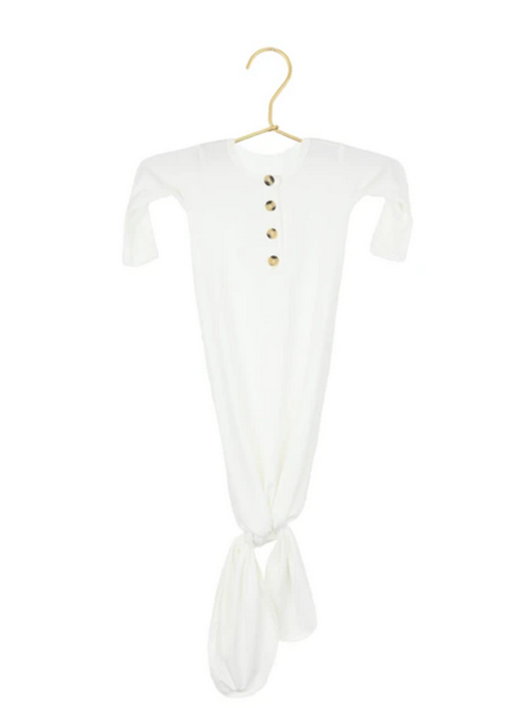 Elitaire Petite Finley White Knotted Gown Newborn - 3 Months