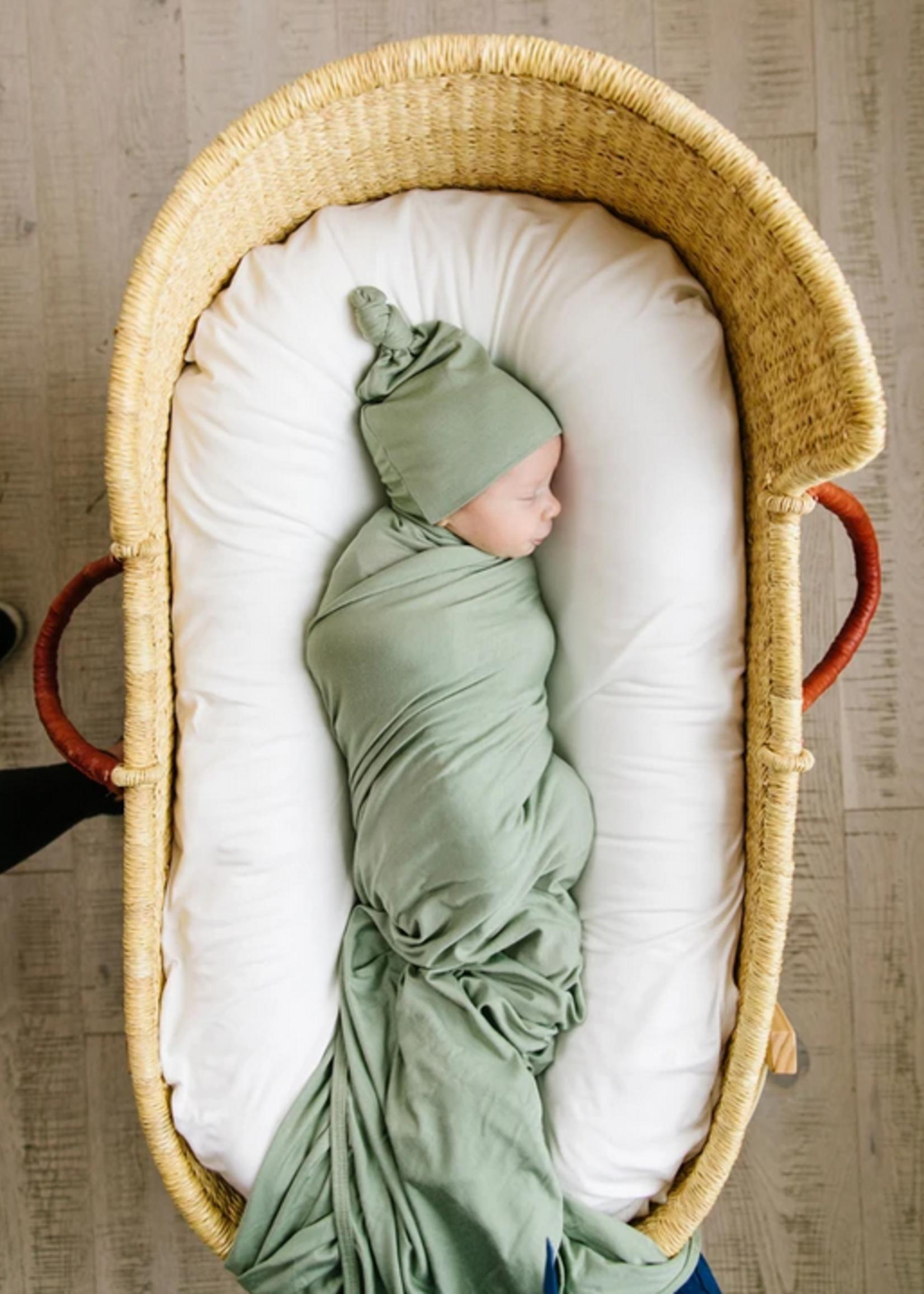 Elitaire Petite Marley Sage Knit Swaddle Blanket