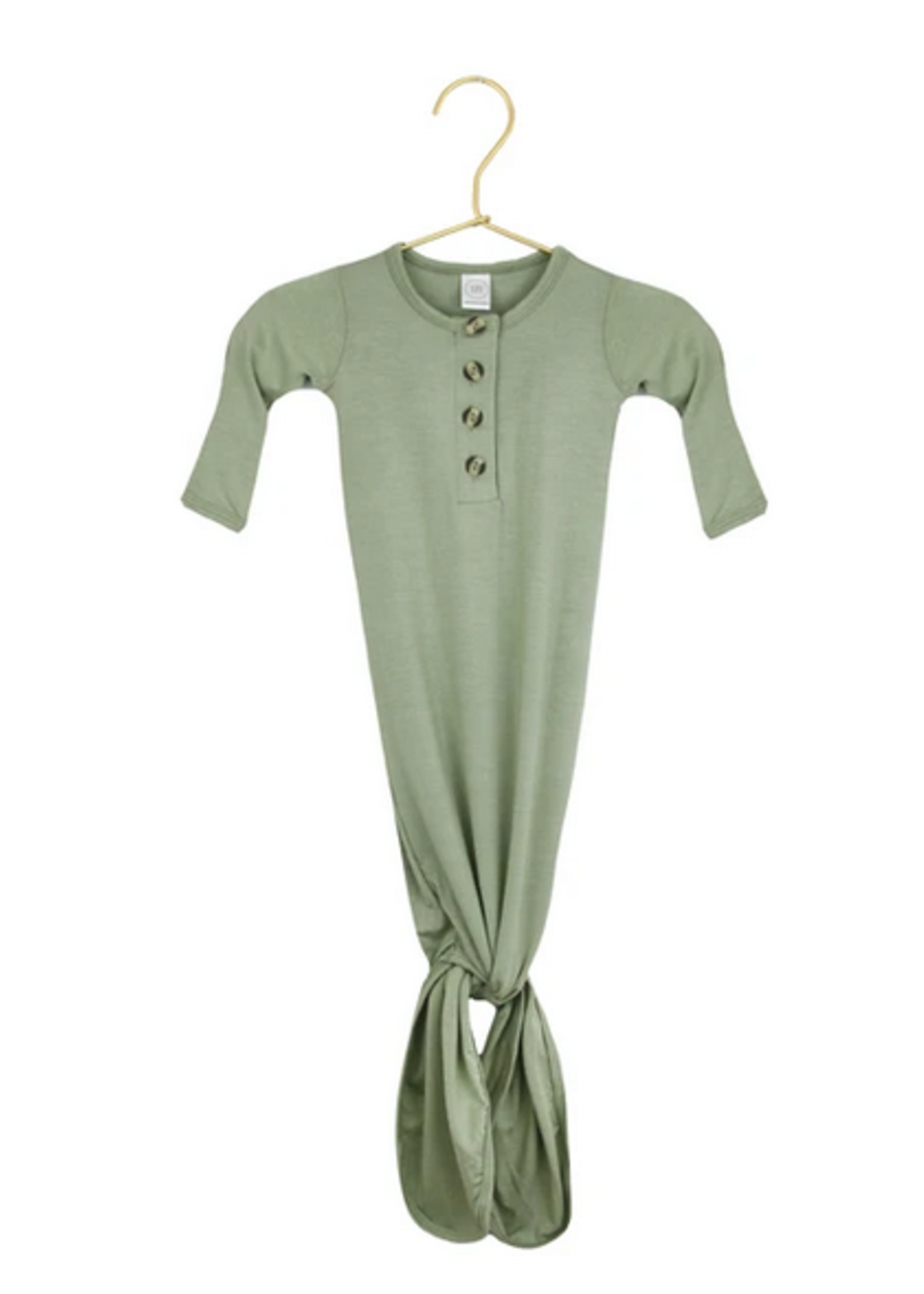 Elitaire Petite Marley Sage Knotted Gown 3-6 Months