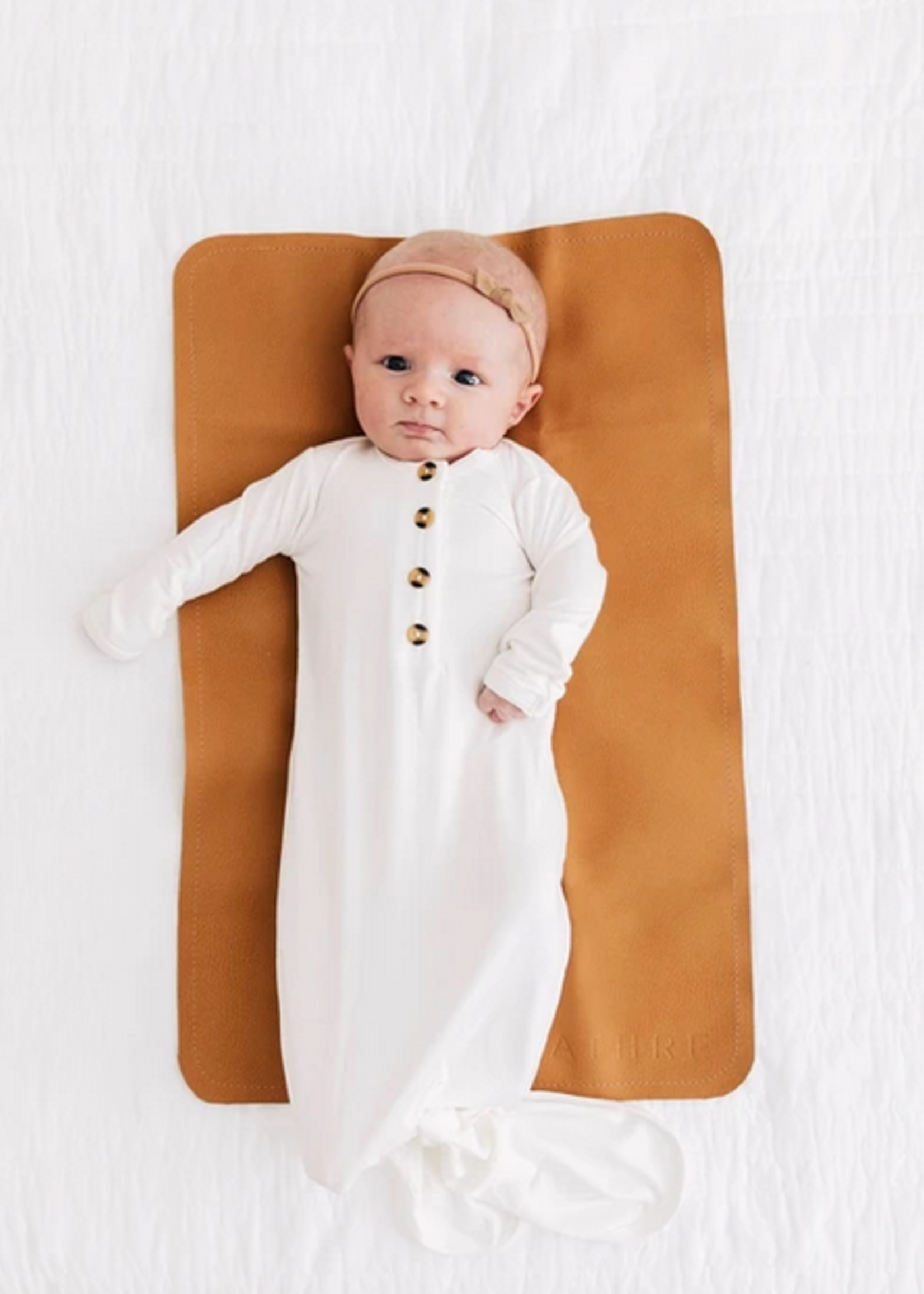Elitaire Petite Finley White Knotted Gown 3-6 Months