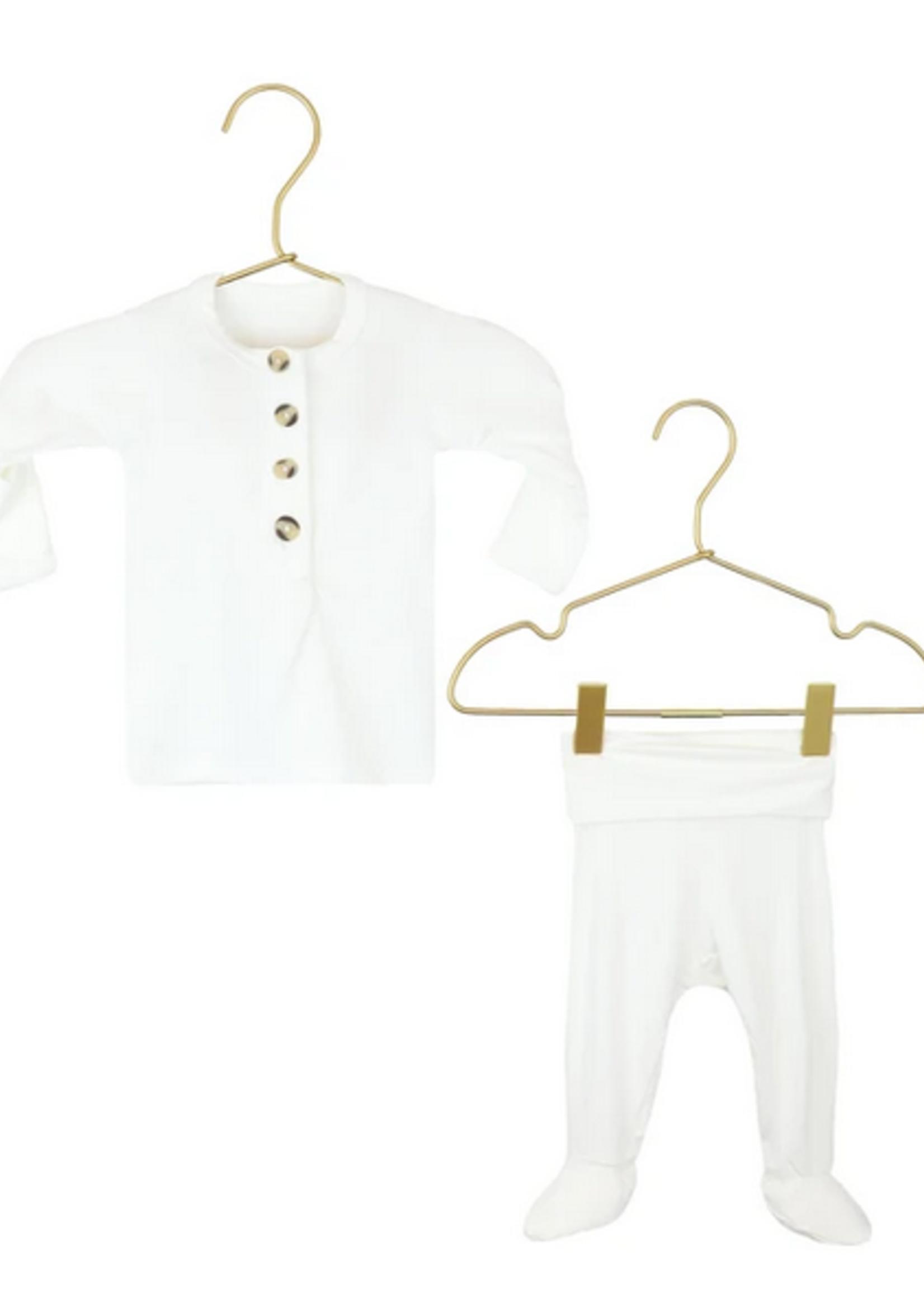 Elitaire Petite Finley White Set Newborn - 3 Months