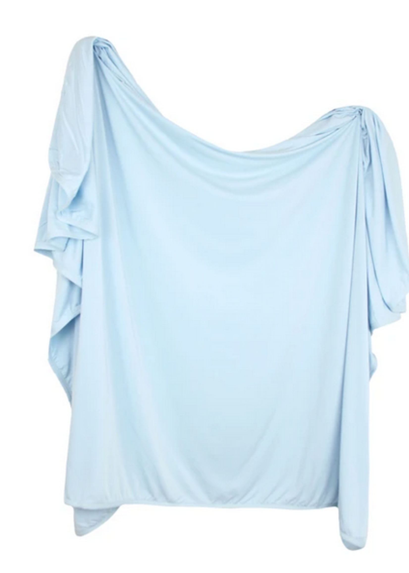 Elitaire Petite Jude Baby Blue Knit Swaddle Blanket