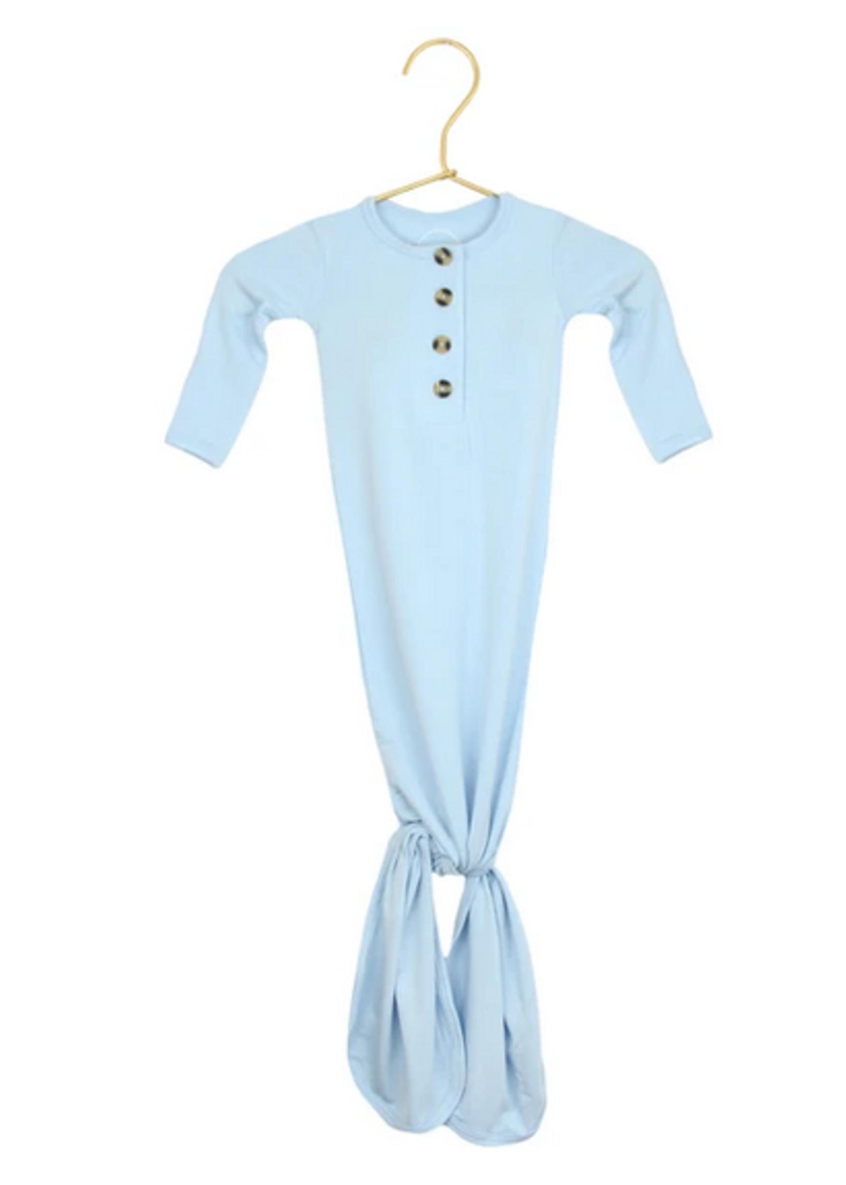Elitaire Petite Jude Baby Blue Knotted Gown Newborn - 3 Months