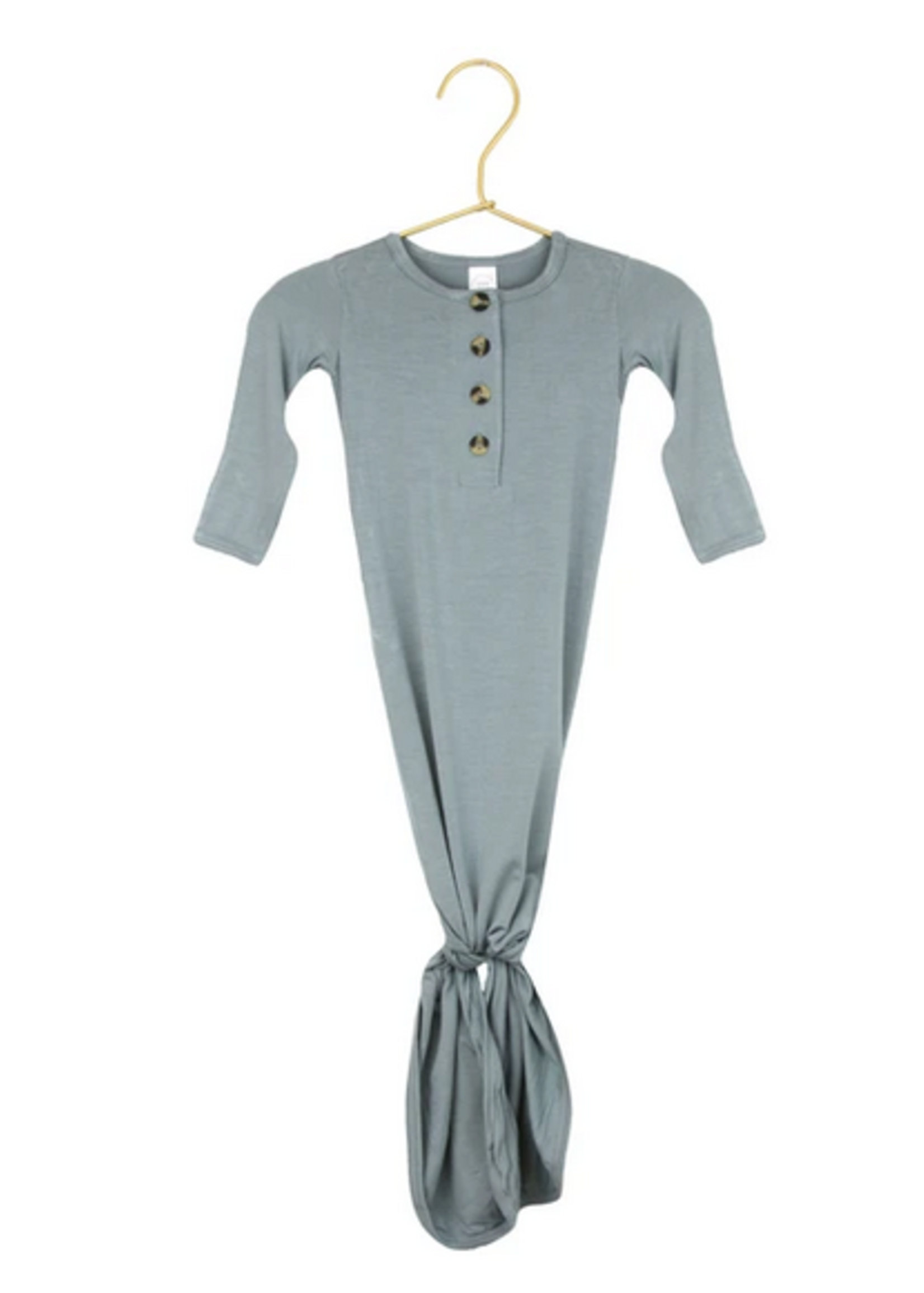 Elitaire Petite Leo Dusty Blue Knotted Gown Newborn - 3 Month