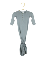Elitaire Petite Leo Dusty Blue Knotted Gown 3-6 Month