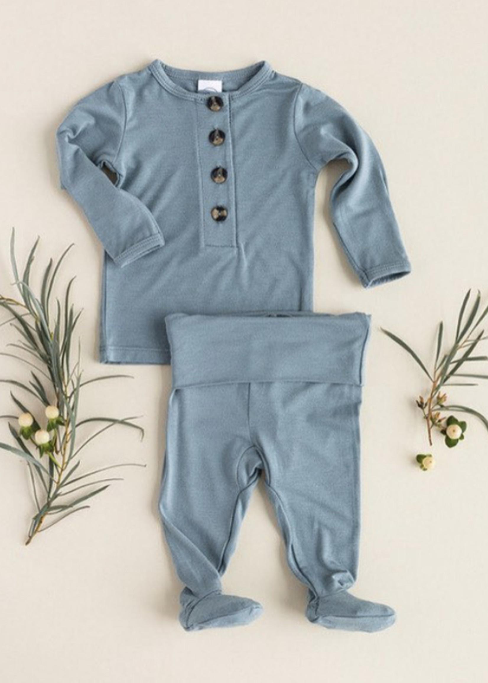 Elitaire Petite Leo Dusty Blue Set Newborn - 3 Month