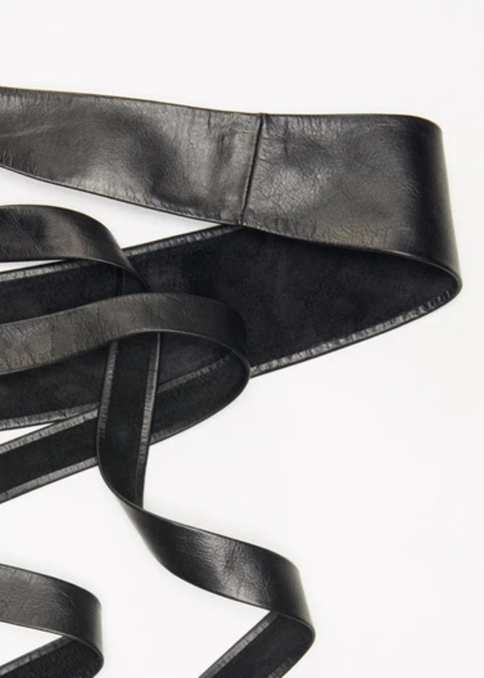 Elitaire Boutique Wrap Belt - Black