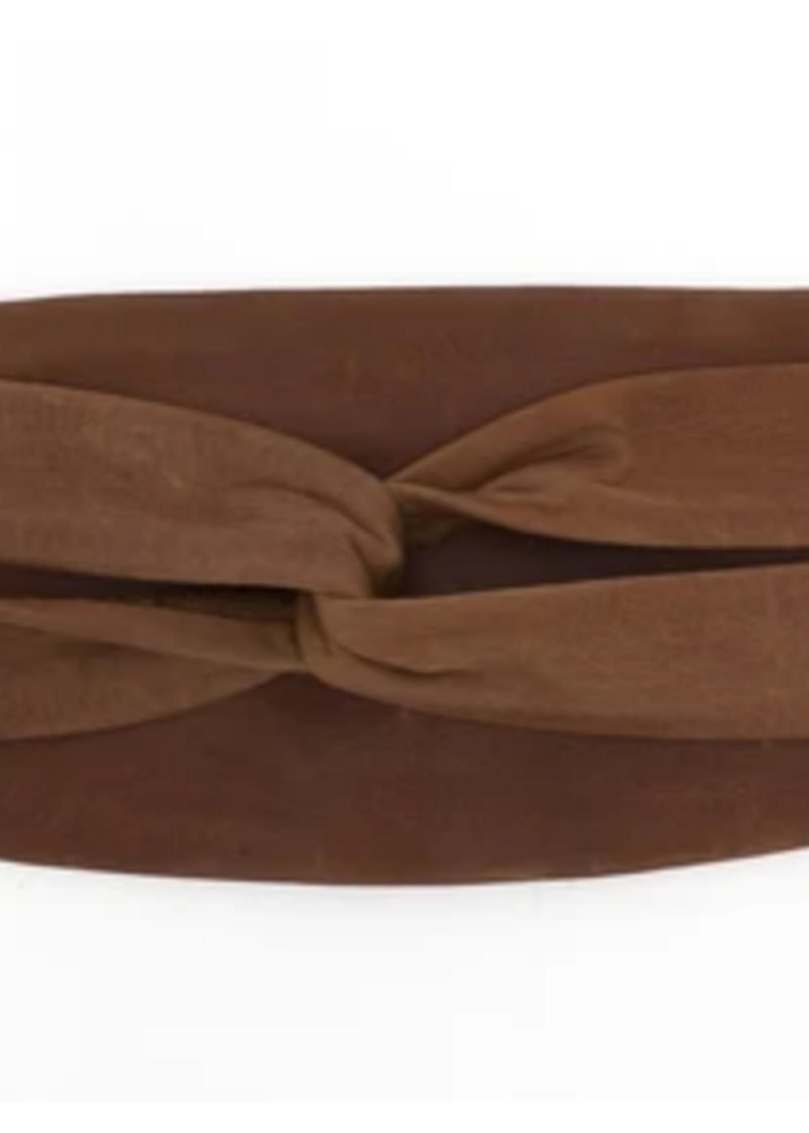 Elitaire Boutique Wrap Belt - Cognac