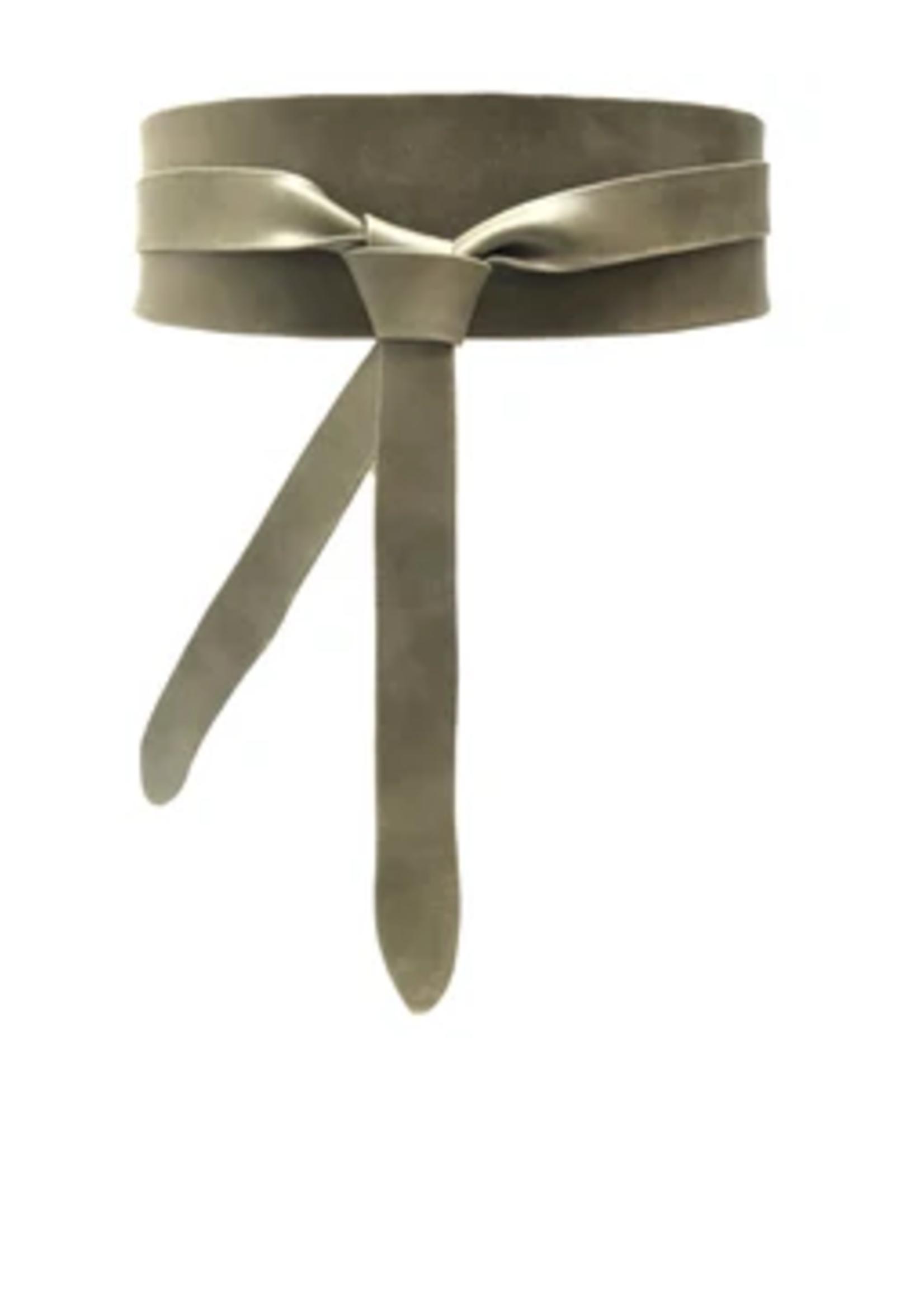 Elitaire Boutique Wrap Belt - Olive