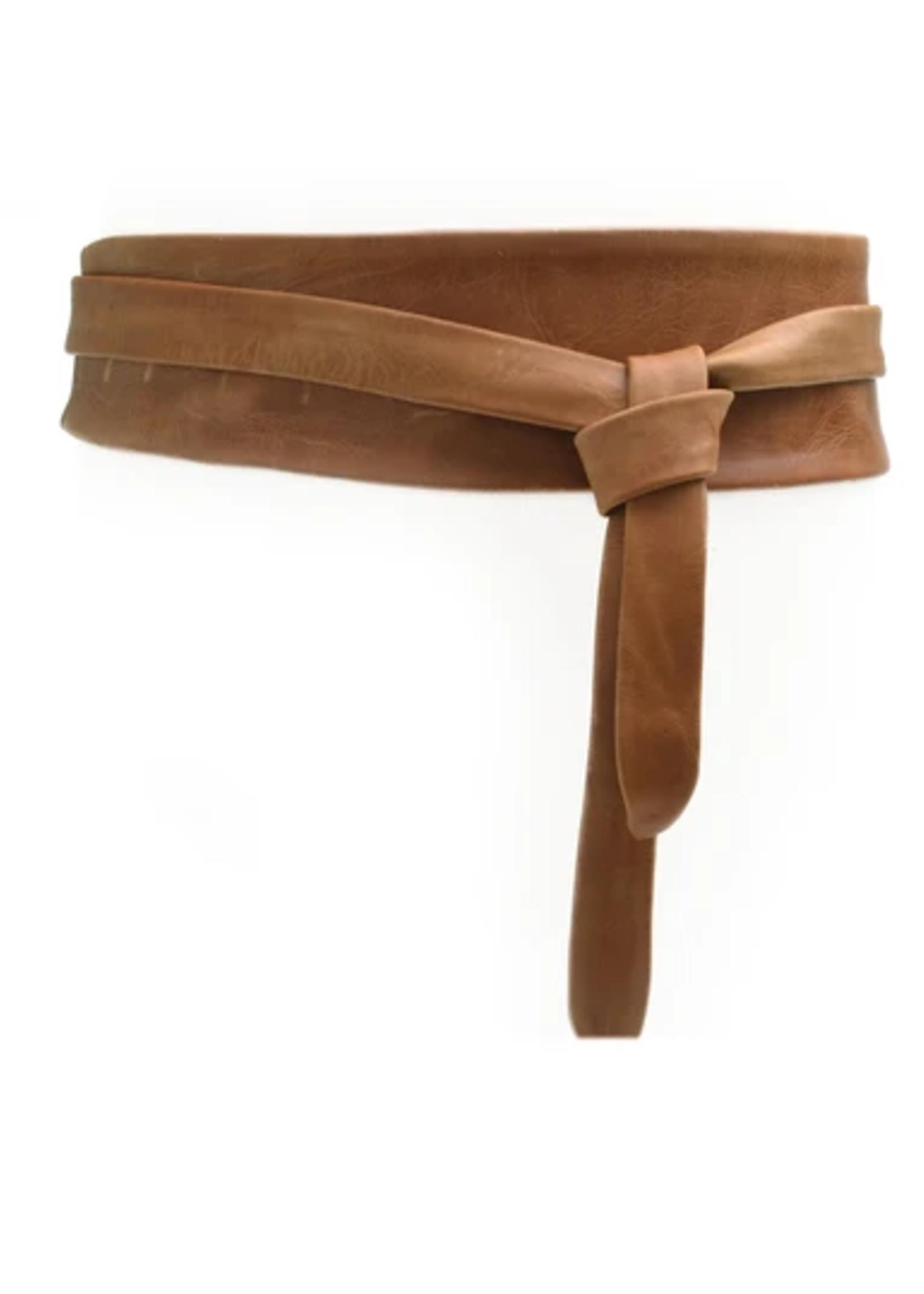 Elitaire Boutique Wrap Belt - Tan