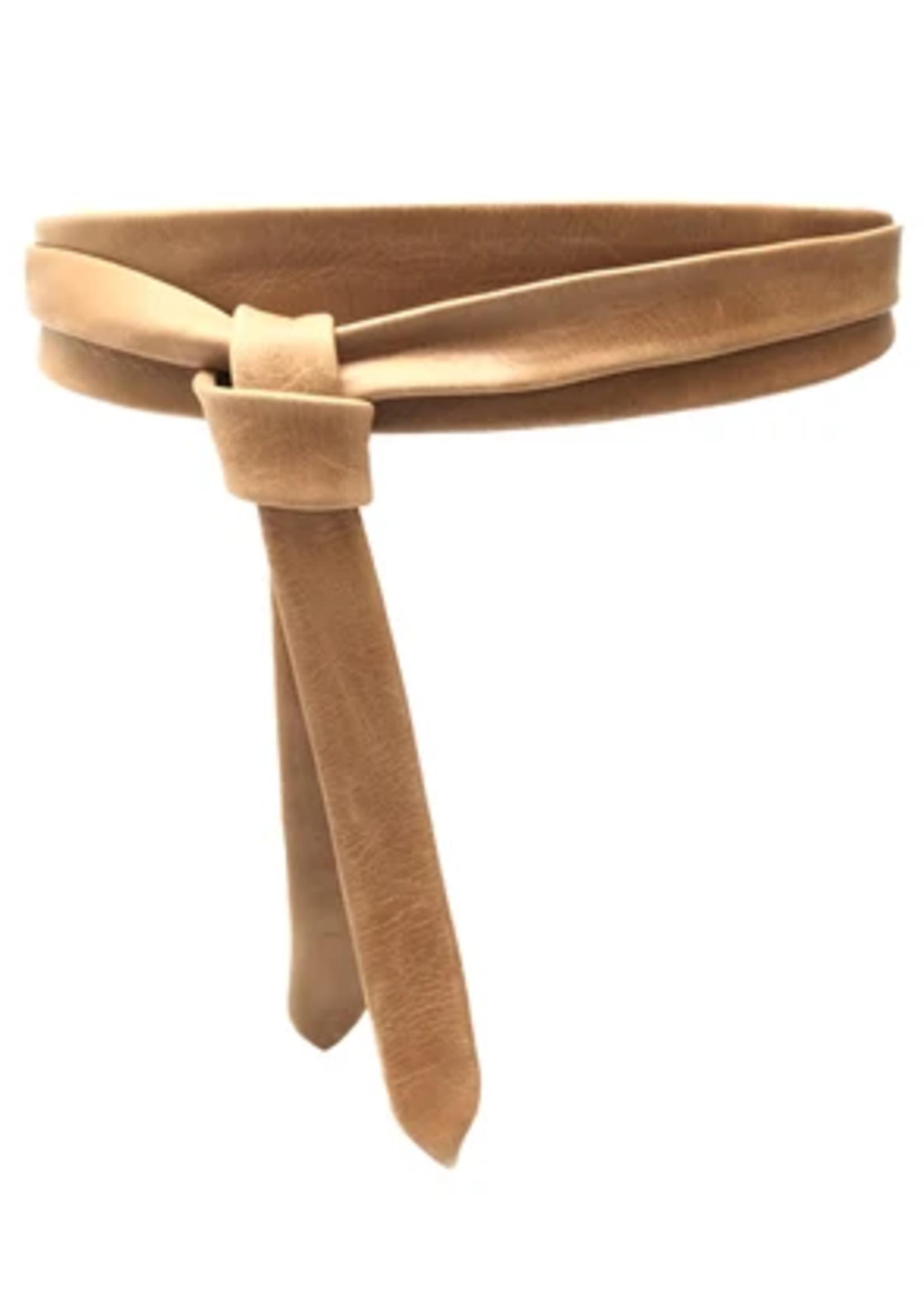 Elitaire Boutique Midi Wrap Belt - Tan