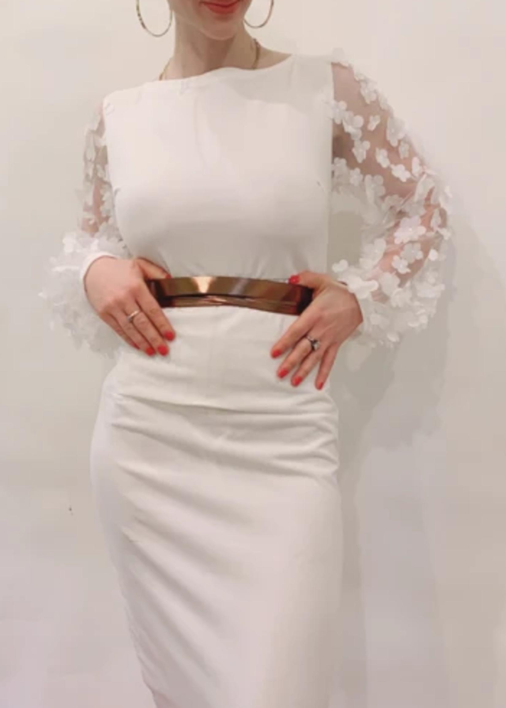 Elitaire Boutique Skinny Wrap Belt - Bronze Foil