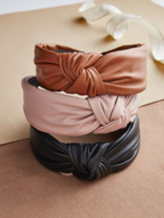 Elitaire Boutique Leather Knotted Headband