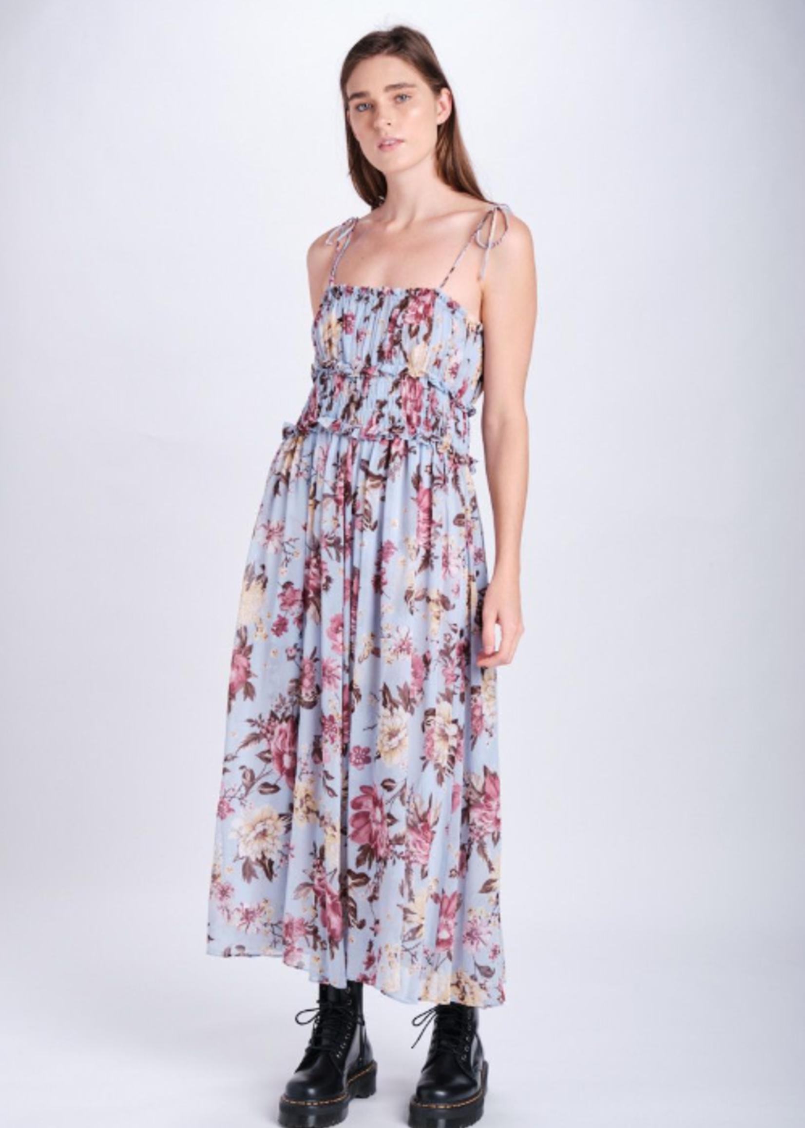 Elitaire Boutique Floral Print Maxi Dress
