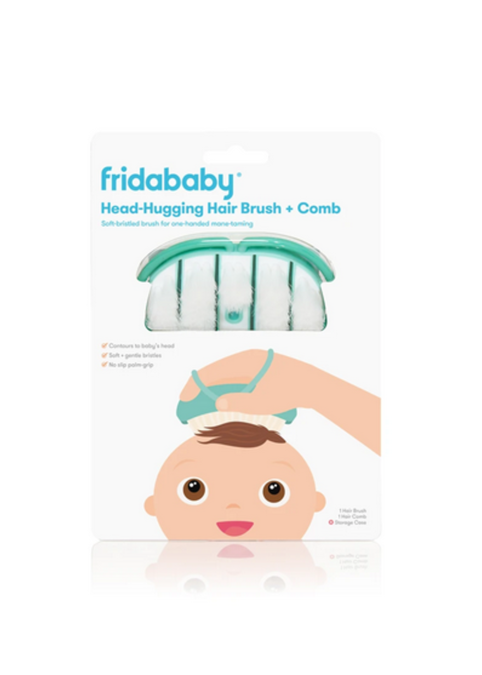 Elitaire Petite Infant Headhugging Hairbrush + Comb + Case