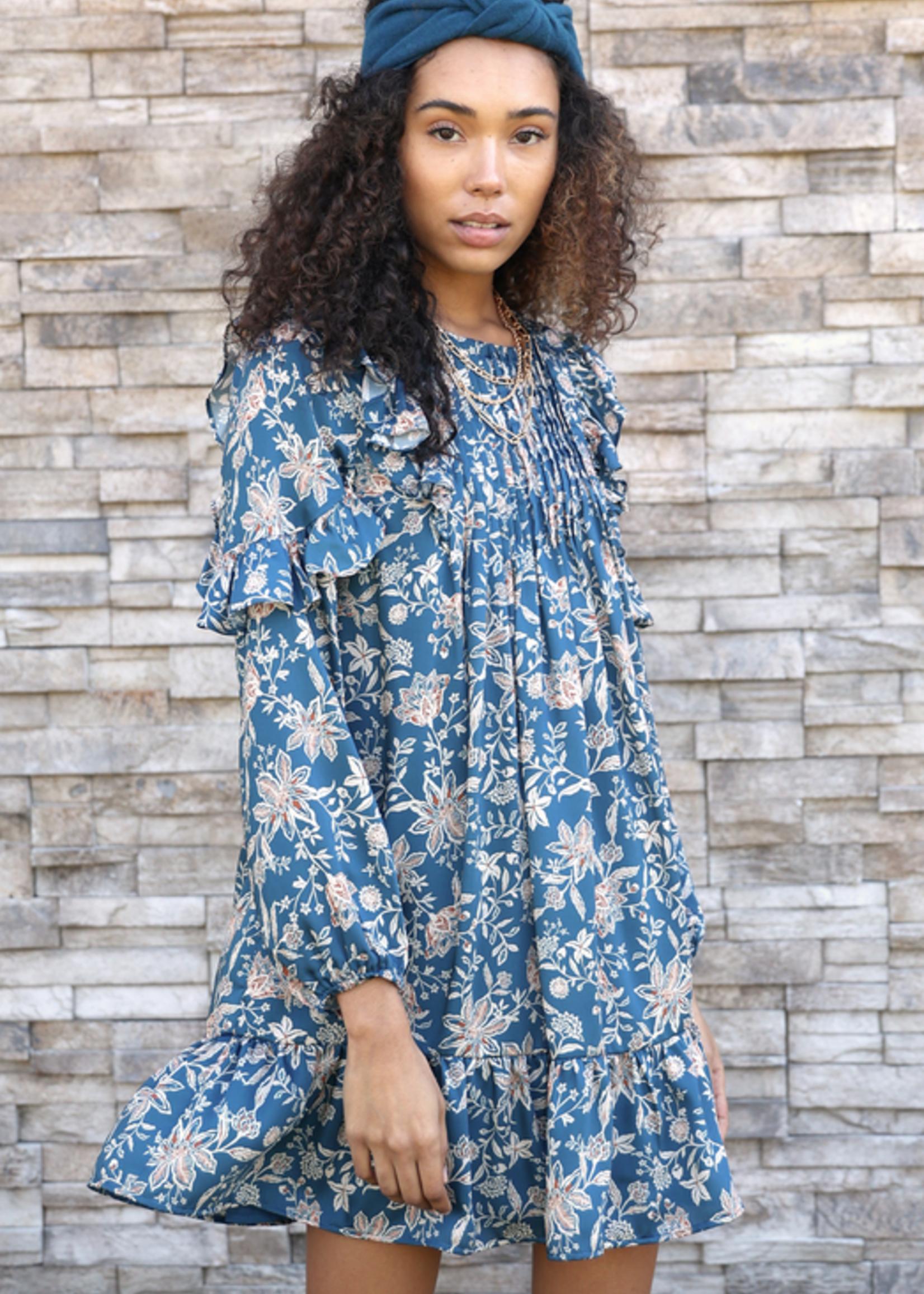 Elitaire Boutique Ami Pintuked Popover Dress