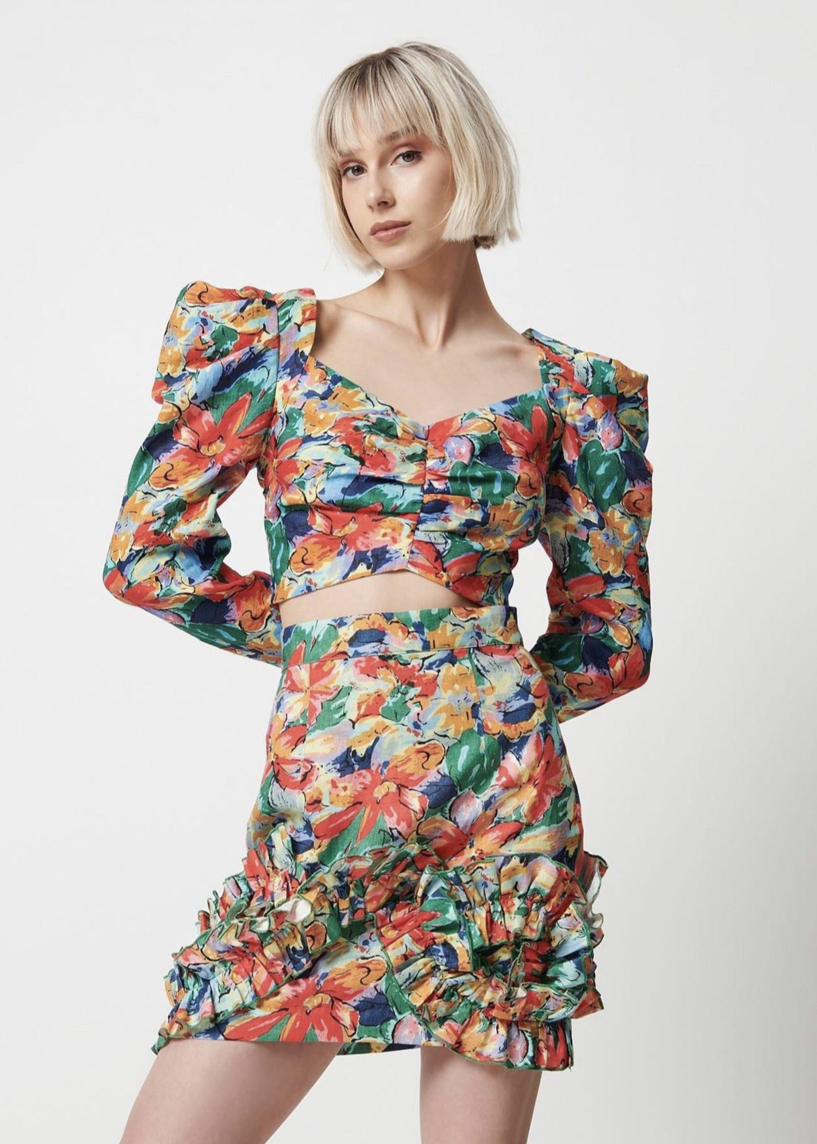 Elitaire Boutique Makenna Skirt in Multi