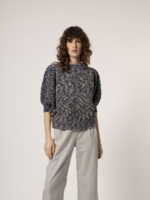 Elitaire Boutique Balloon Sleeve Sweater in Marine Blue