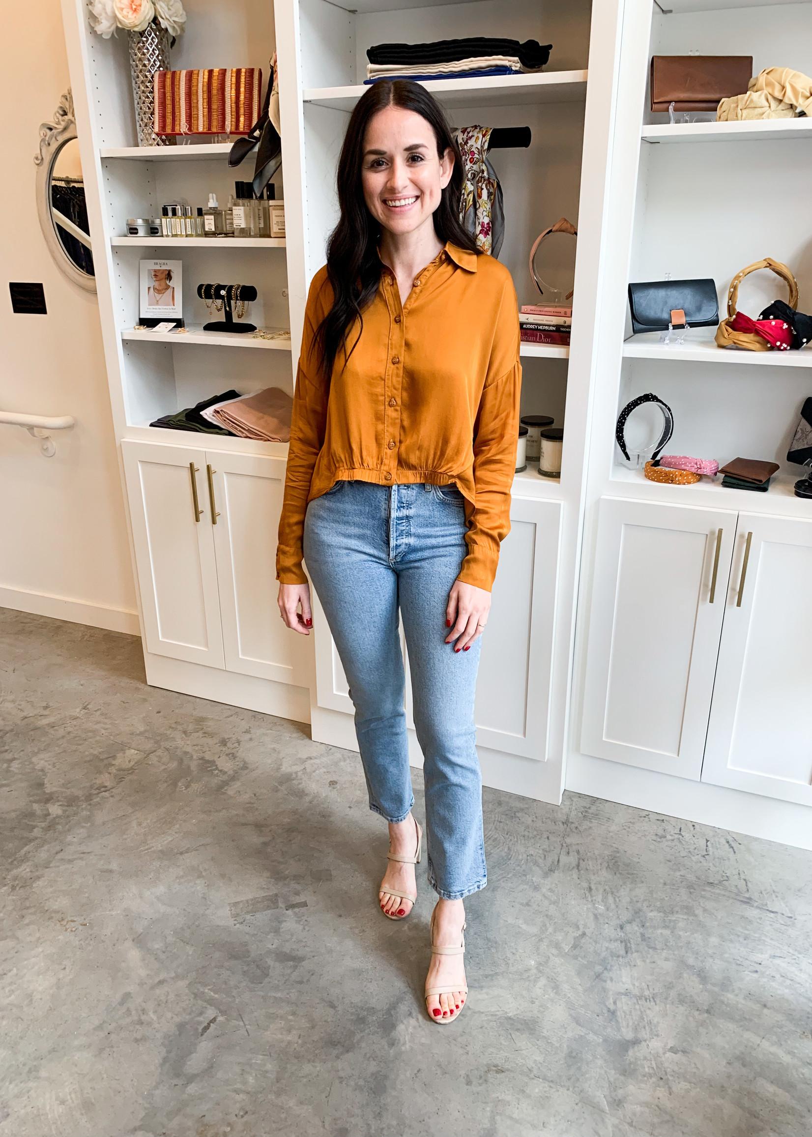 Elitaire Boutique Zoe Top in Antique Gold