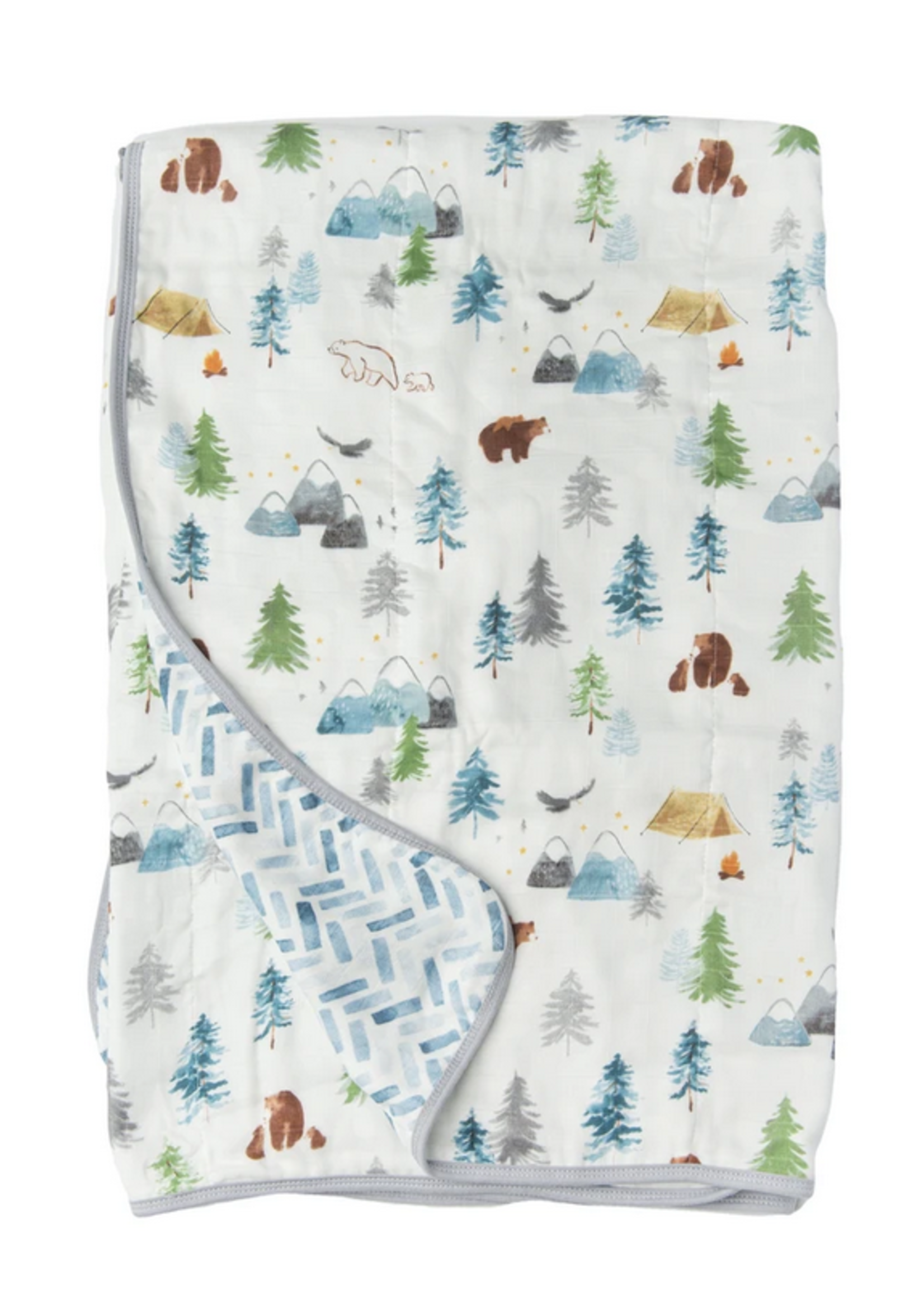 Elitaire Petite Muslin Quilt Blanket - Adventure Begins