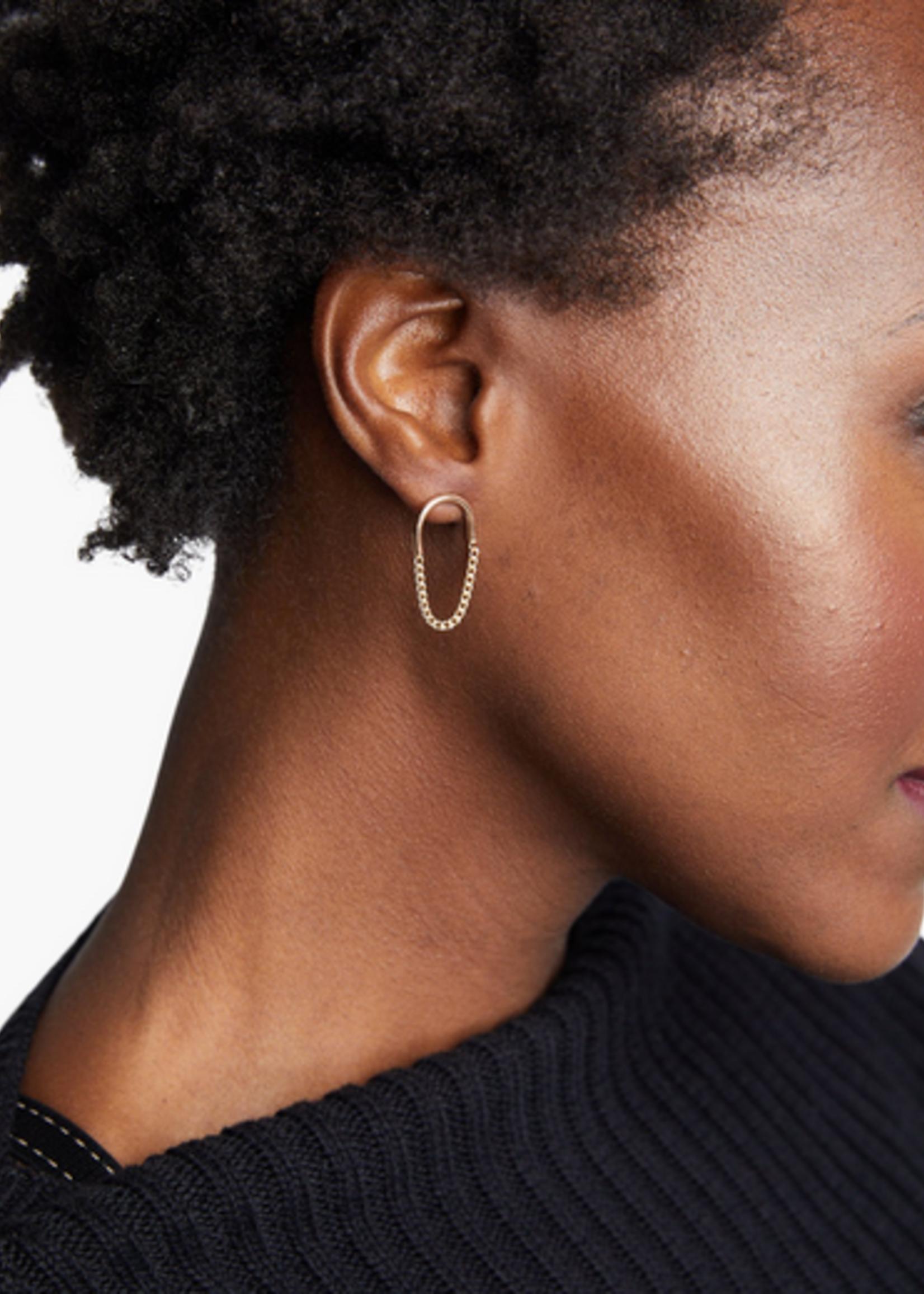 Elitaire Boutique Arc Chain Earrins