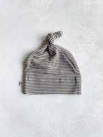 Elitaire Petite Olive Stripe Knotted Beanie