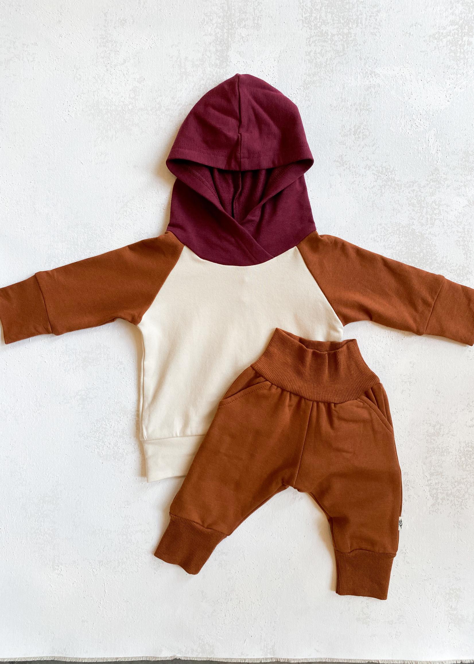 Elitaire Petite Rust Fleece Sweatpants