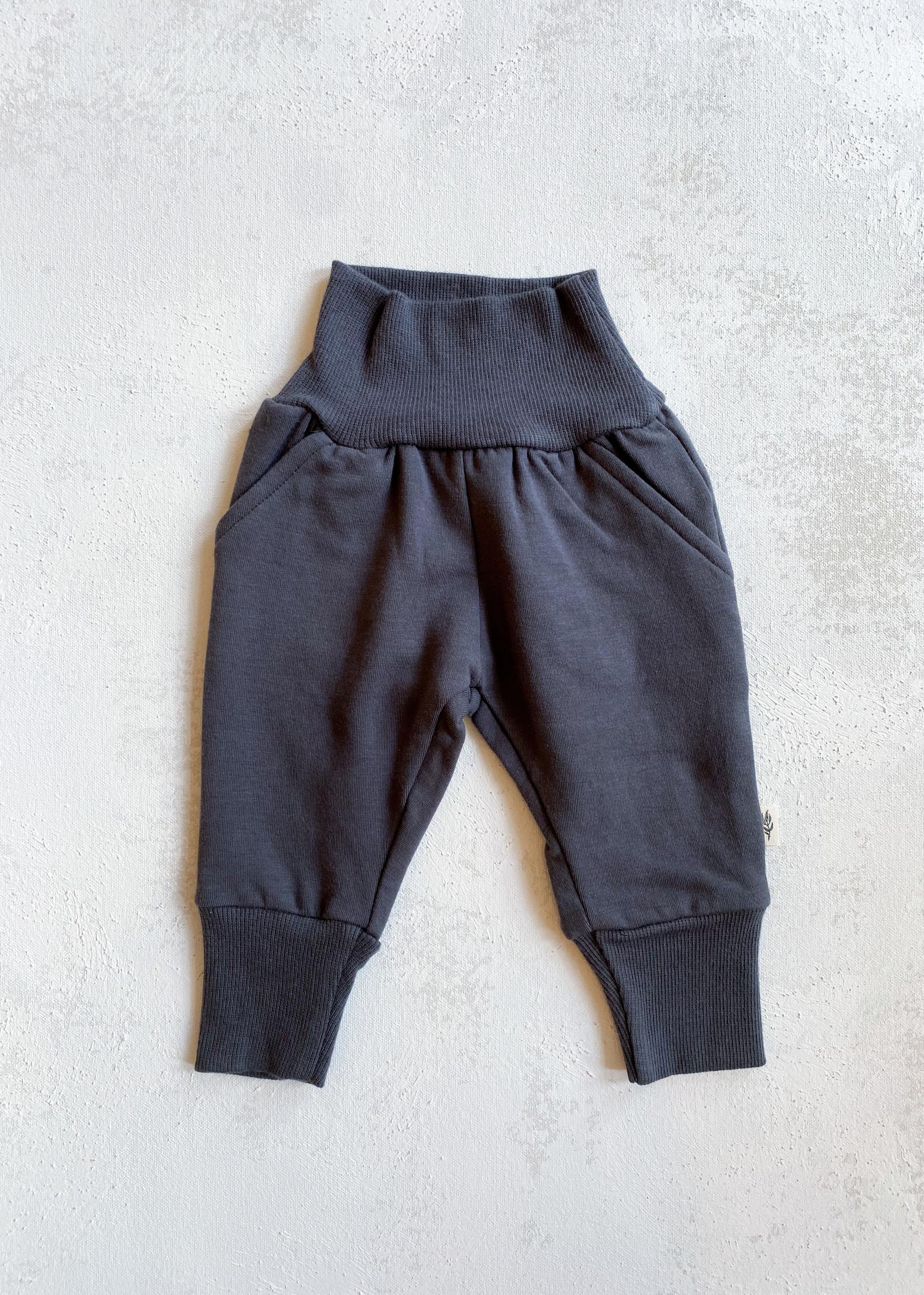 Elitaire Petite Steel Grey Fleece Sweatpants