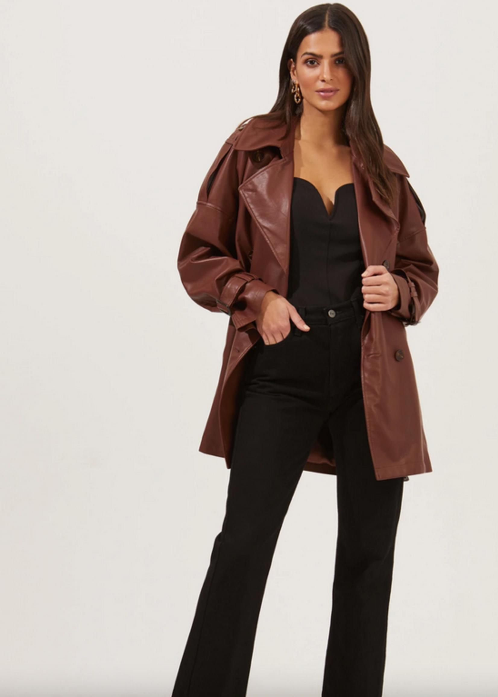 Elitaire Boutique Peoria Jacket in Rust Brown