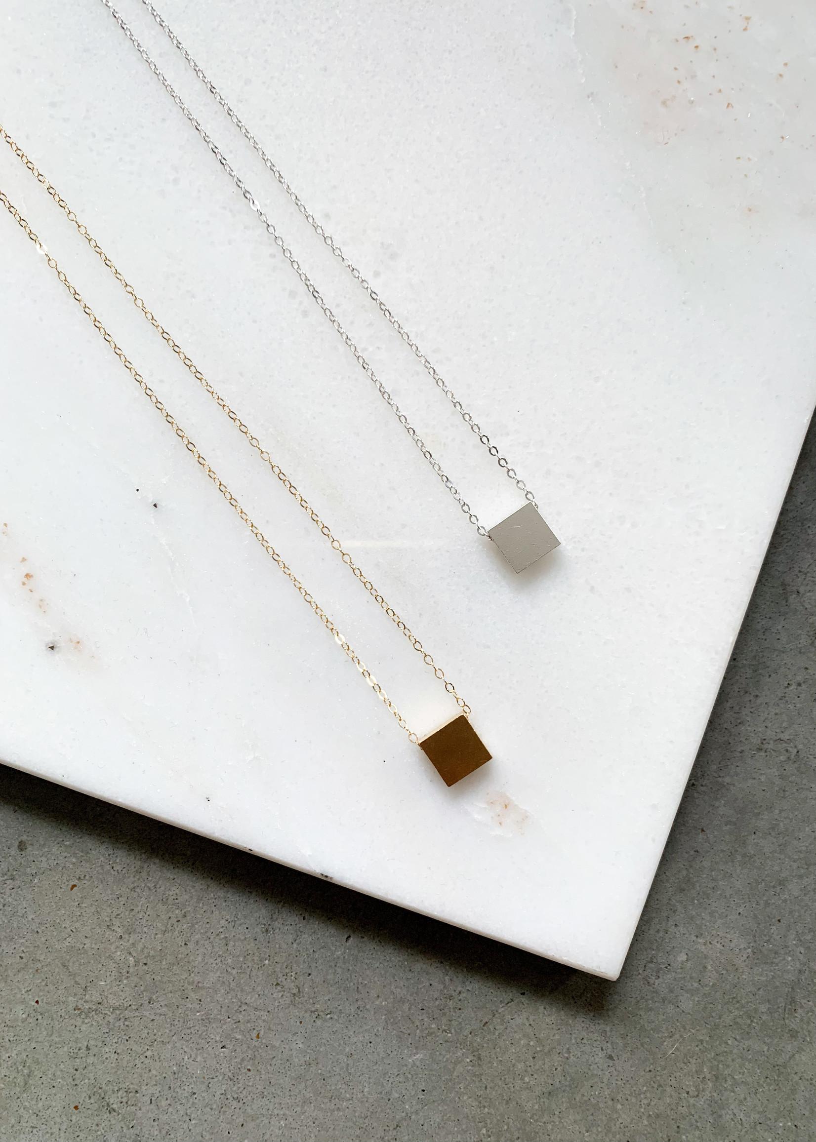 Elitaire Boutique Square Charm Necklace