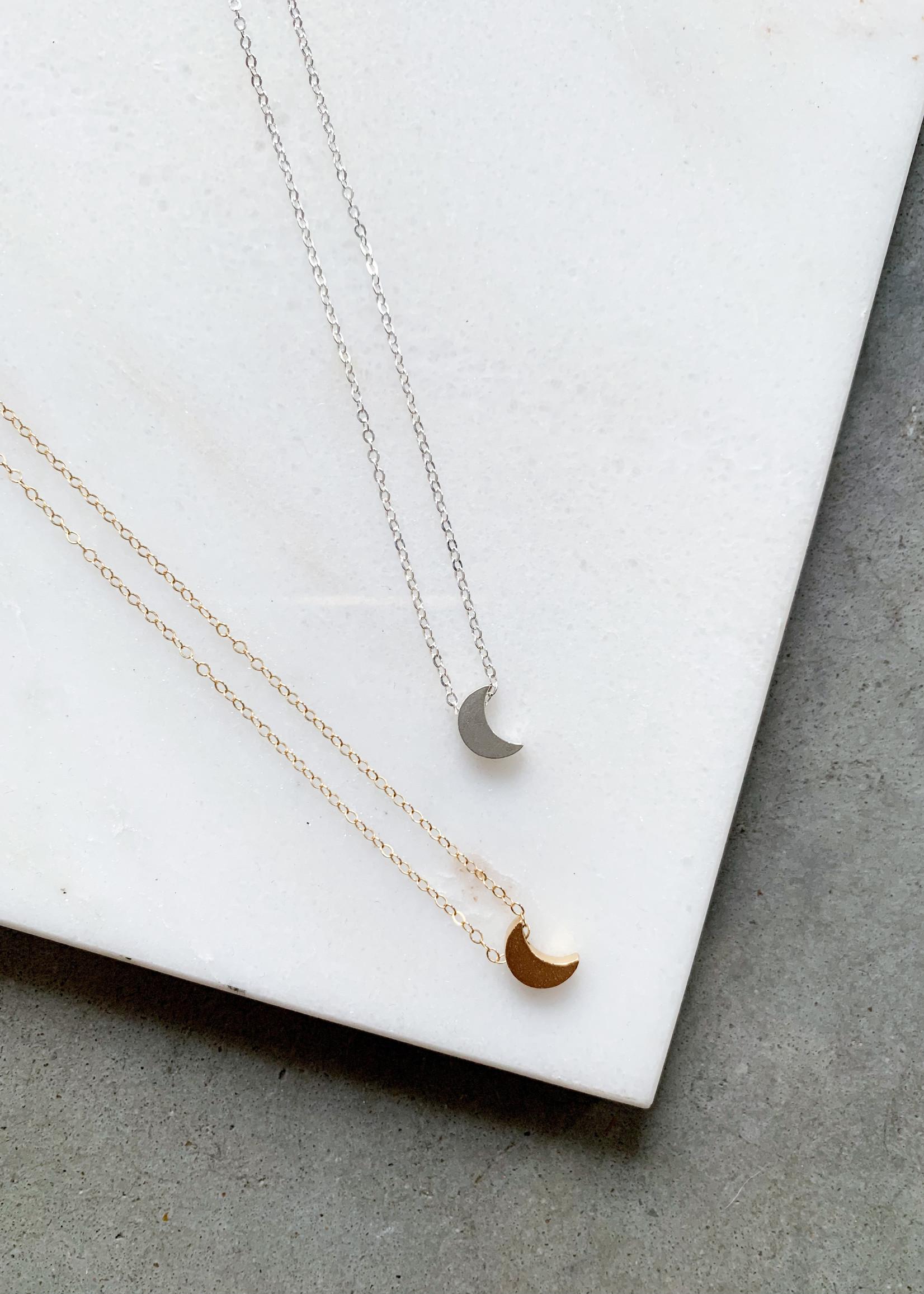 Elitaire Boutique Moon Charm Necklace