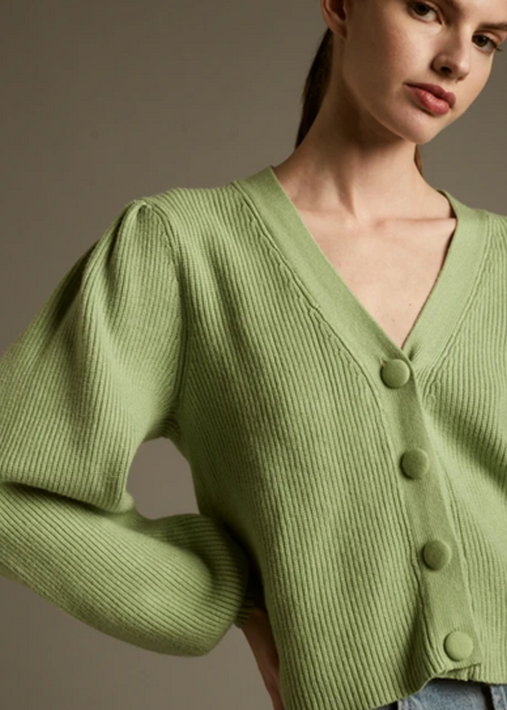 Elitaire Boutique The Nala Cardigan in Mint