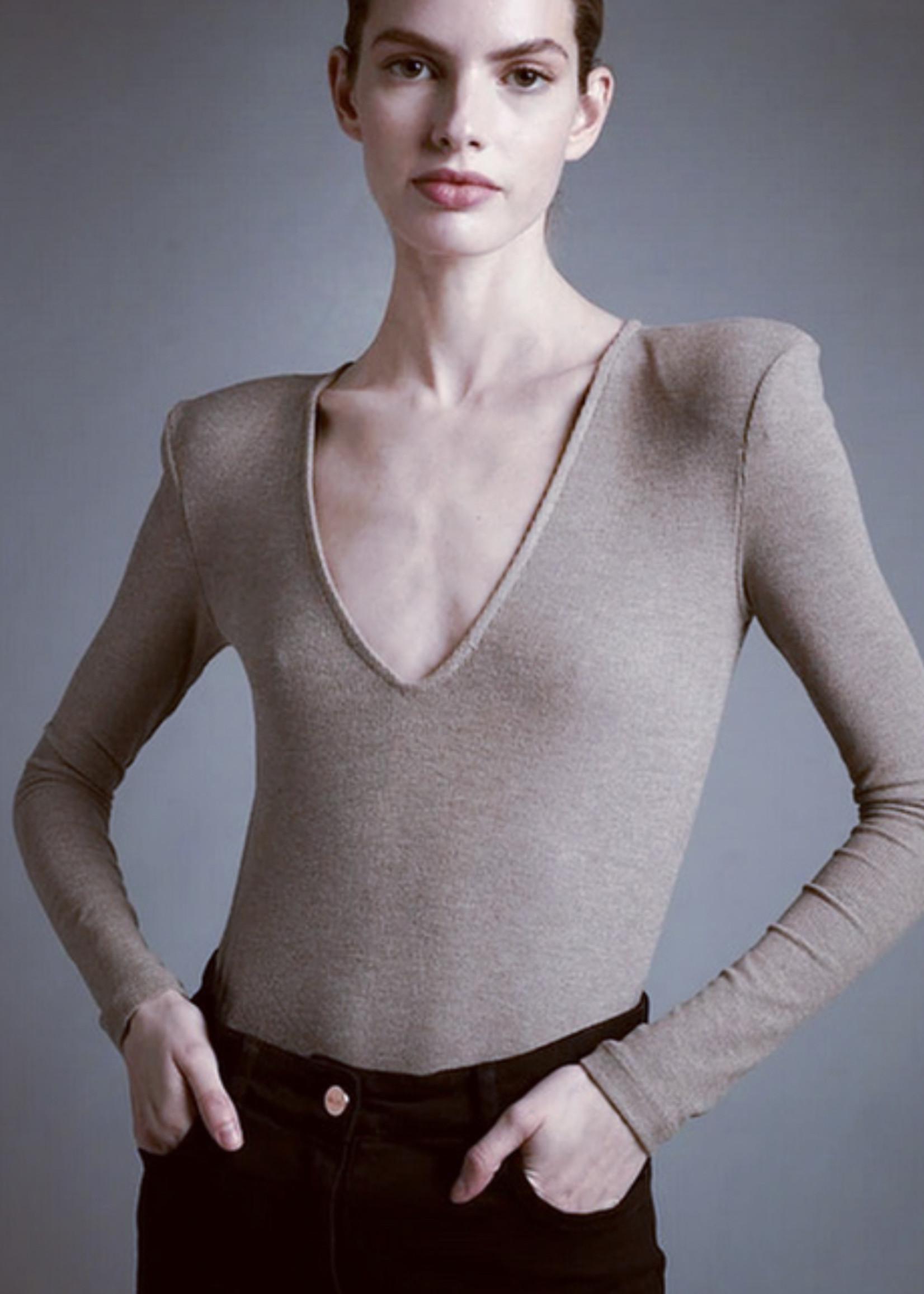 Elitaire Boutique The Regina Bodysuit in Mink