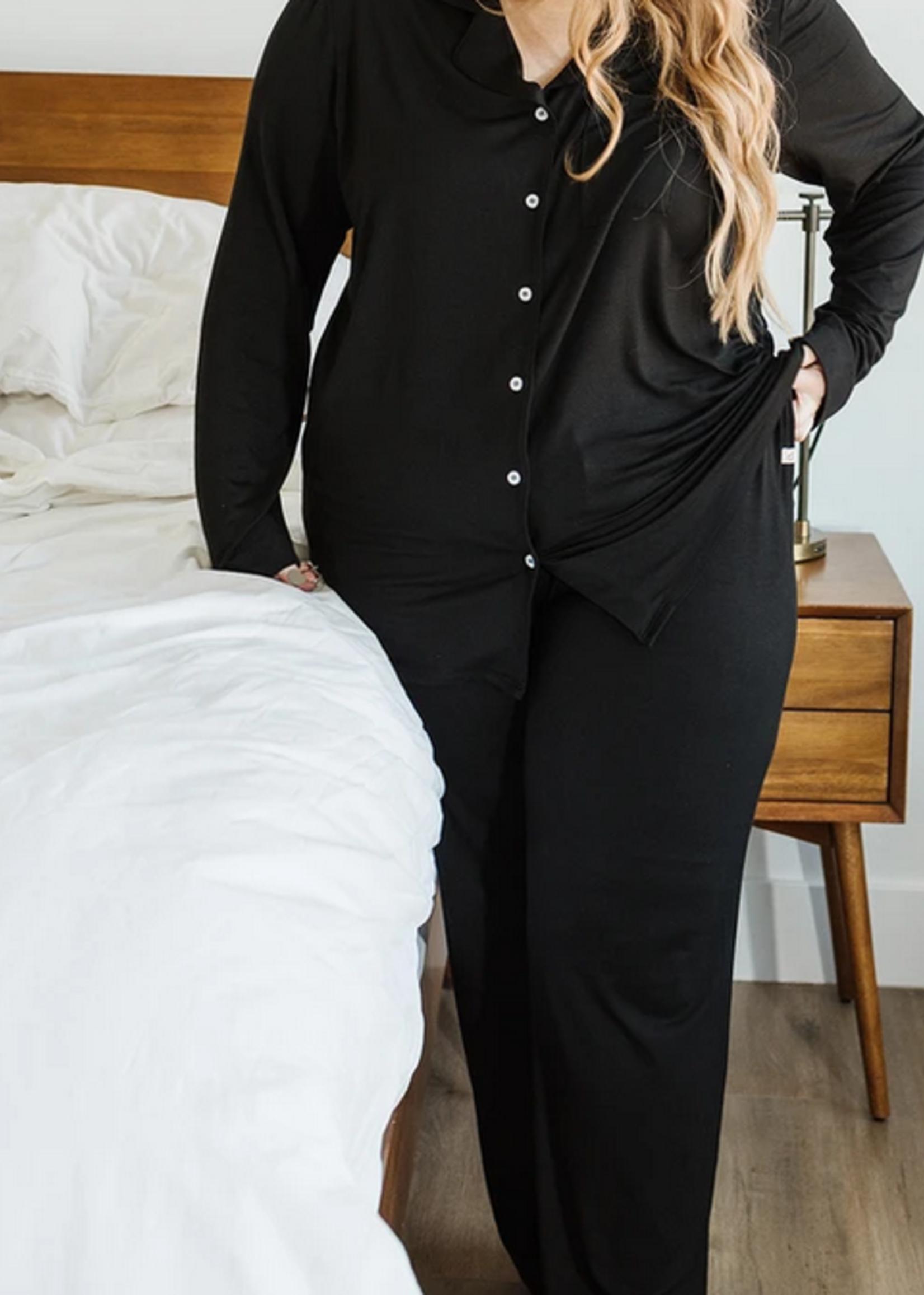 Elitaire Petite Long Sleeve Dream Set in Black