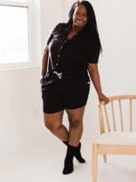 Elitaire Petite Short Sleeve Dream Set in Black
