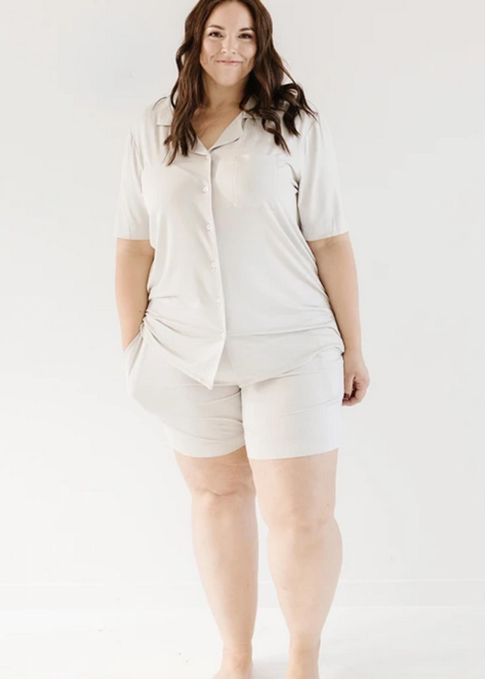 Elitaire Petite Short Sleeve Dream Set in Grey