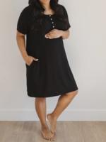 Elitaire Petite Classic Sleep Shirt in Black