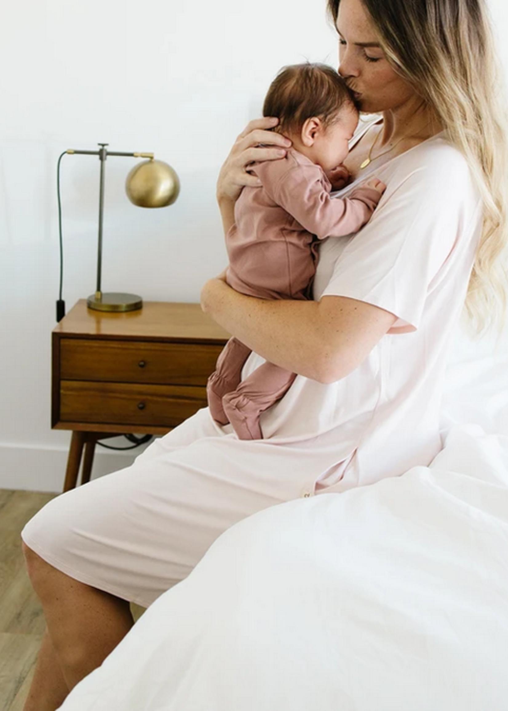 Elitaire Petite Classic Sleep Shirt Blush