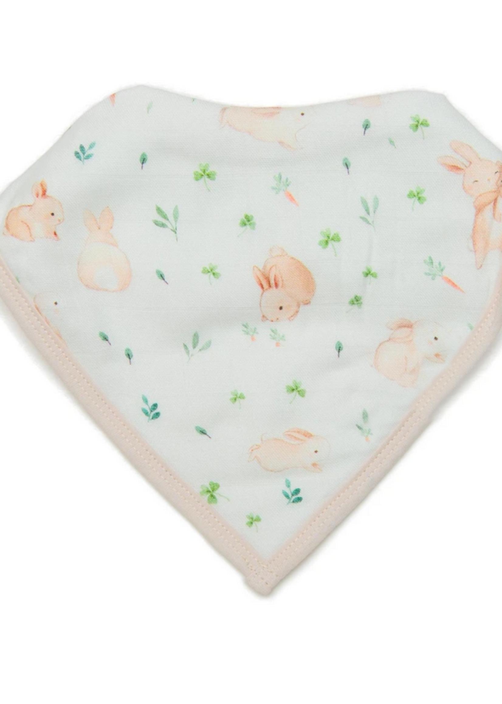 Elitaire Petite Bandana Bib Set - Bunny Meadow