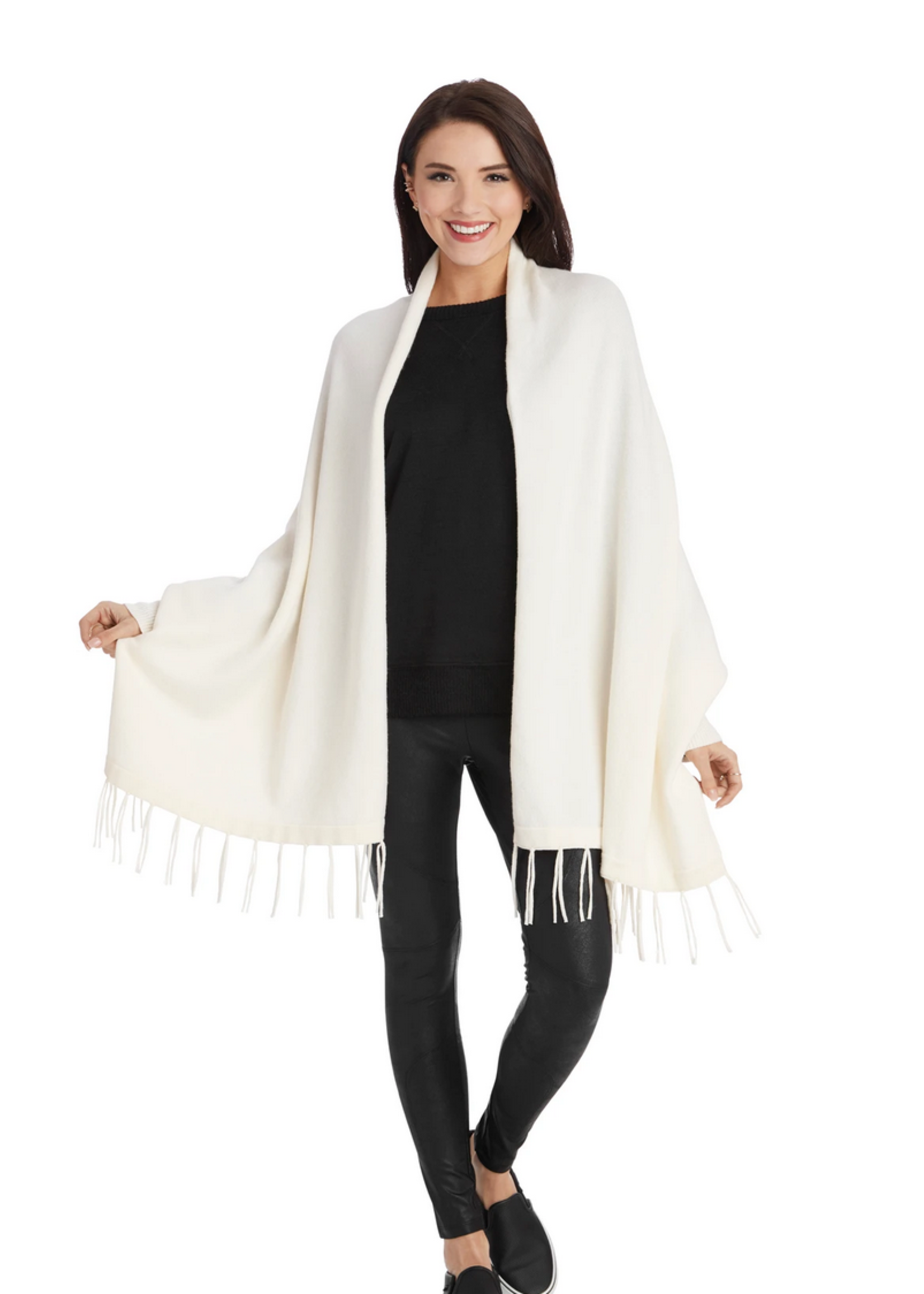 Elitaire Boutique Cardigan Wrap in Ivory