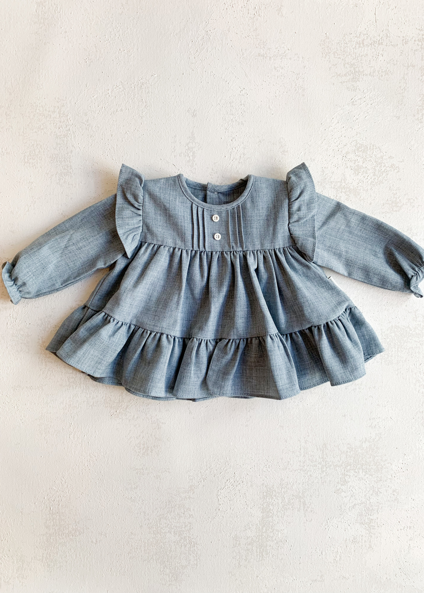 Elitaire Petite Fine Cable Blouse in Grey