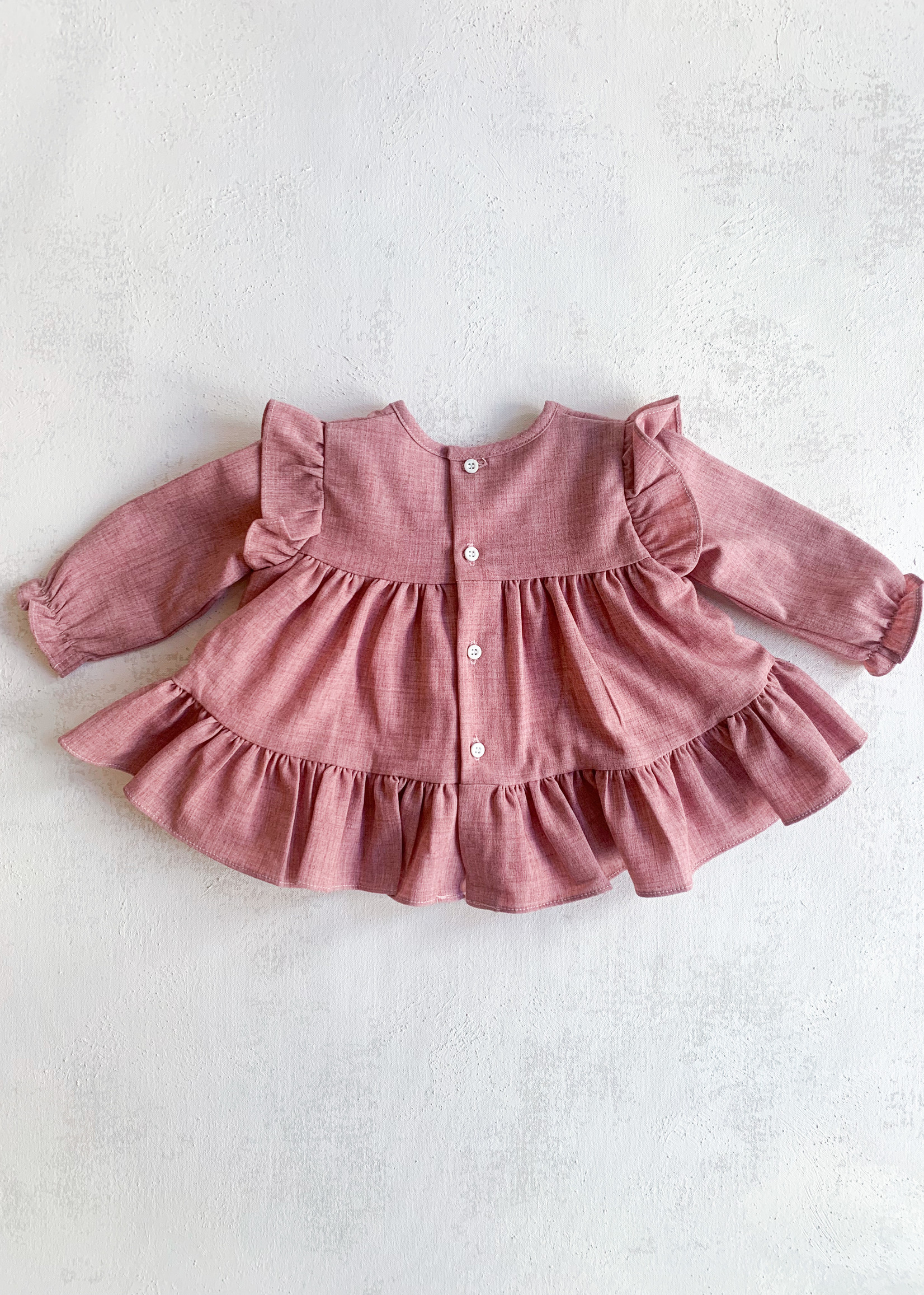 Elitaire Petite Fine Cable Blouse in Pink