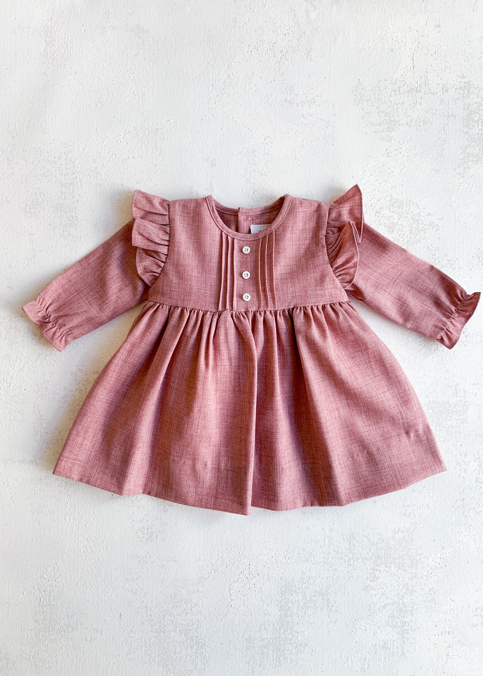 Elitaire Petite Fine Cable Dress in PInk