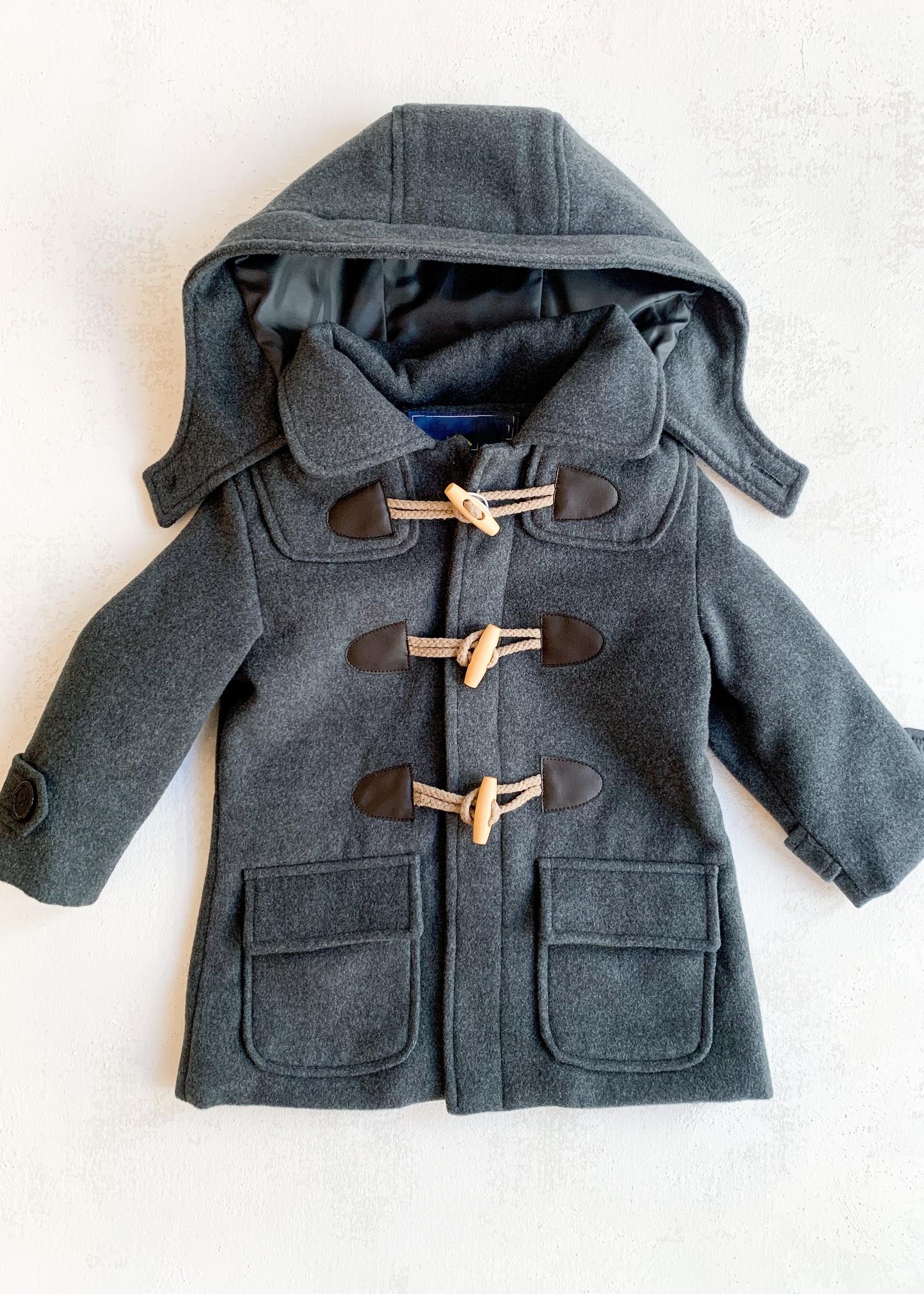 Elitaire Petite Construction Overcoat in Charcoal