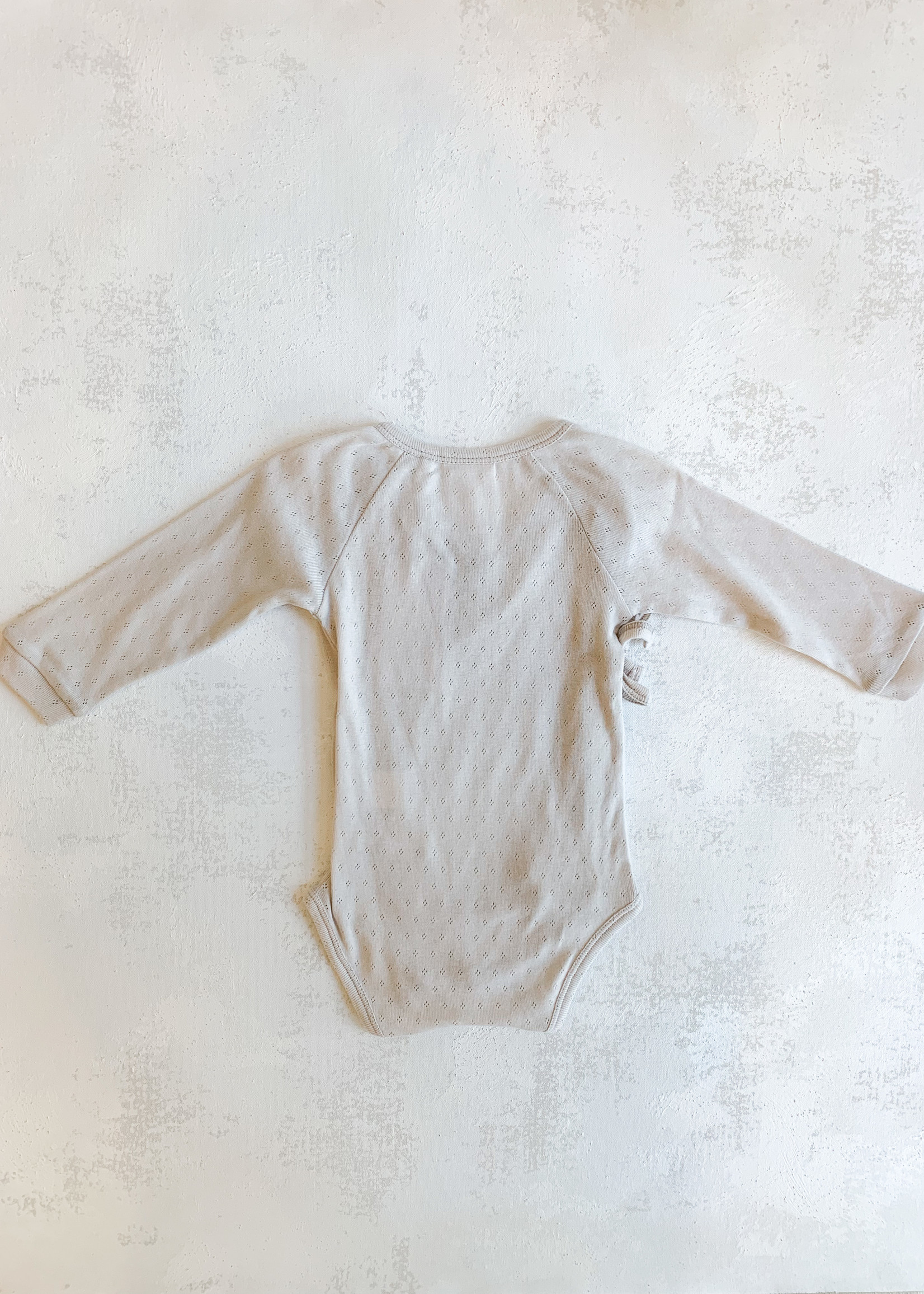 Elitaire Petite Organic Baby Bodysuit in Grey