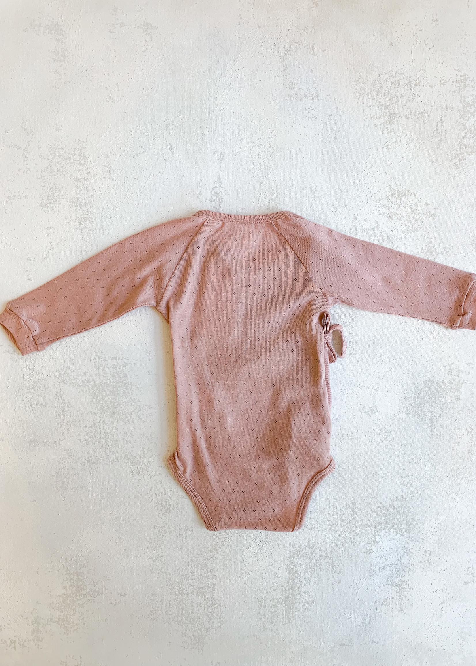Elitaire Petite Organic Baby Bodysuit in Pink