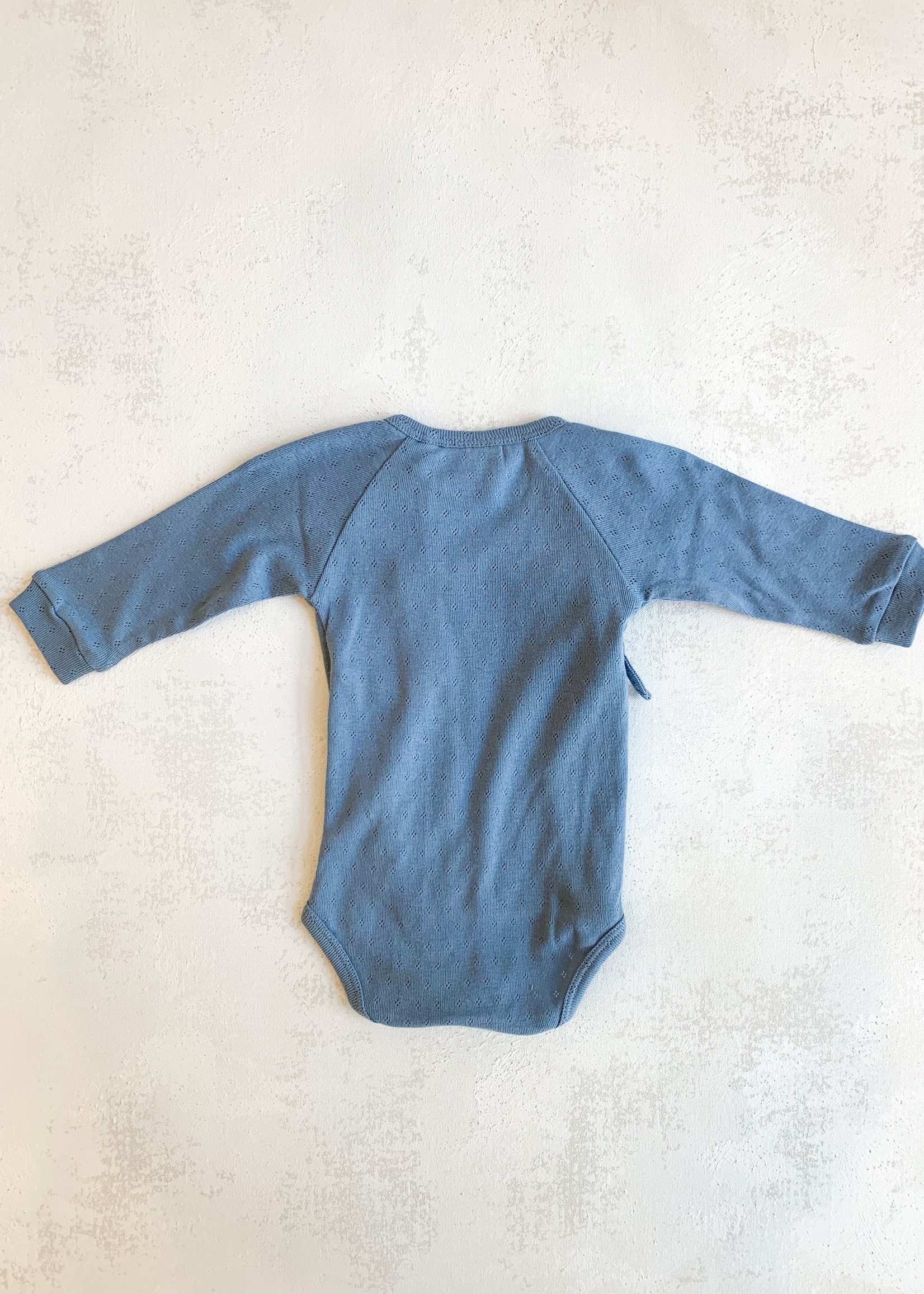 Elitaire Petite Organic Baby Bodysuit in Blue