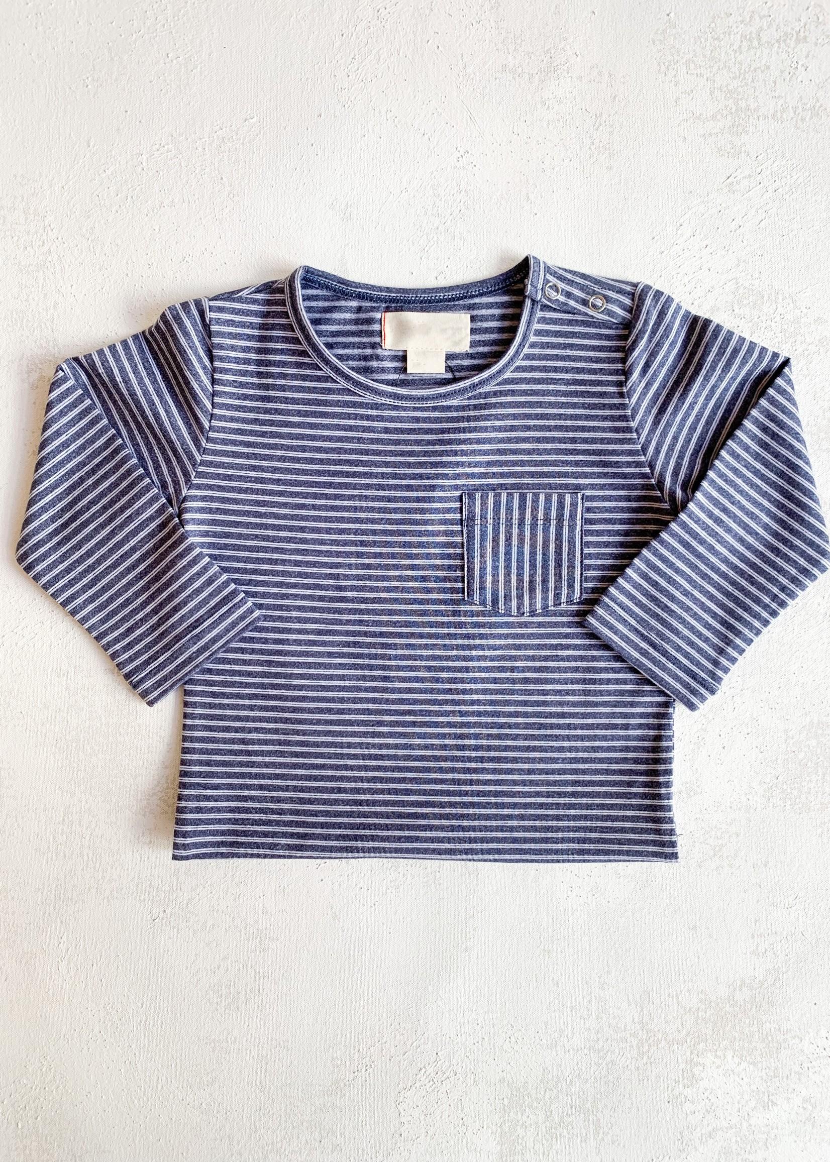 Elitaire Petite Classic Striped Onesie in Blue