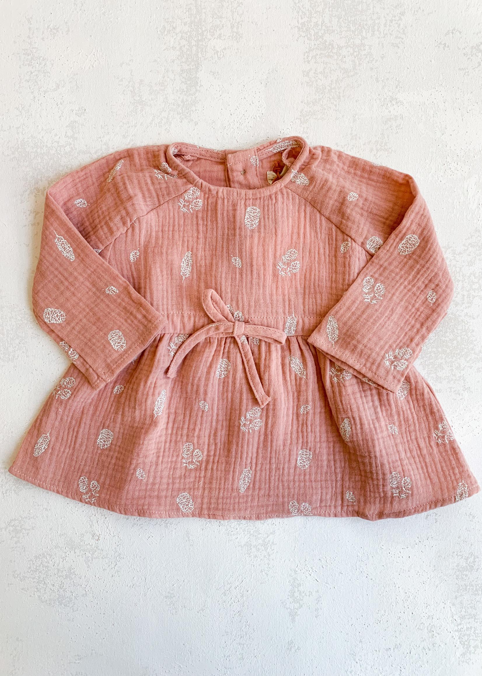 Elitaire Petite Marnie Pink Pinecone Dress