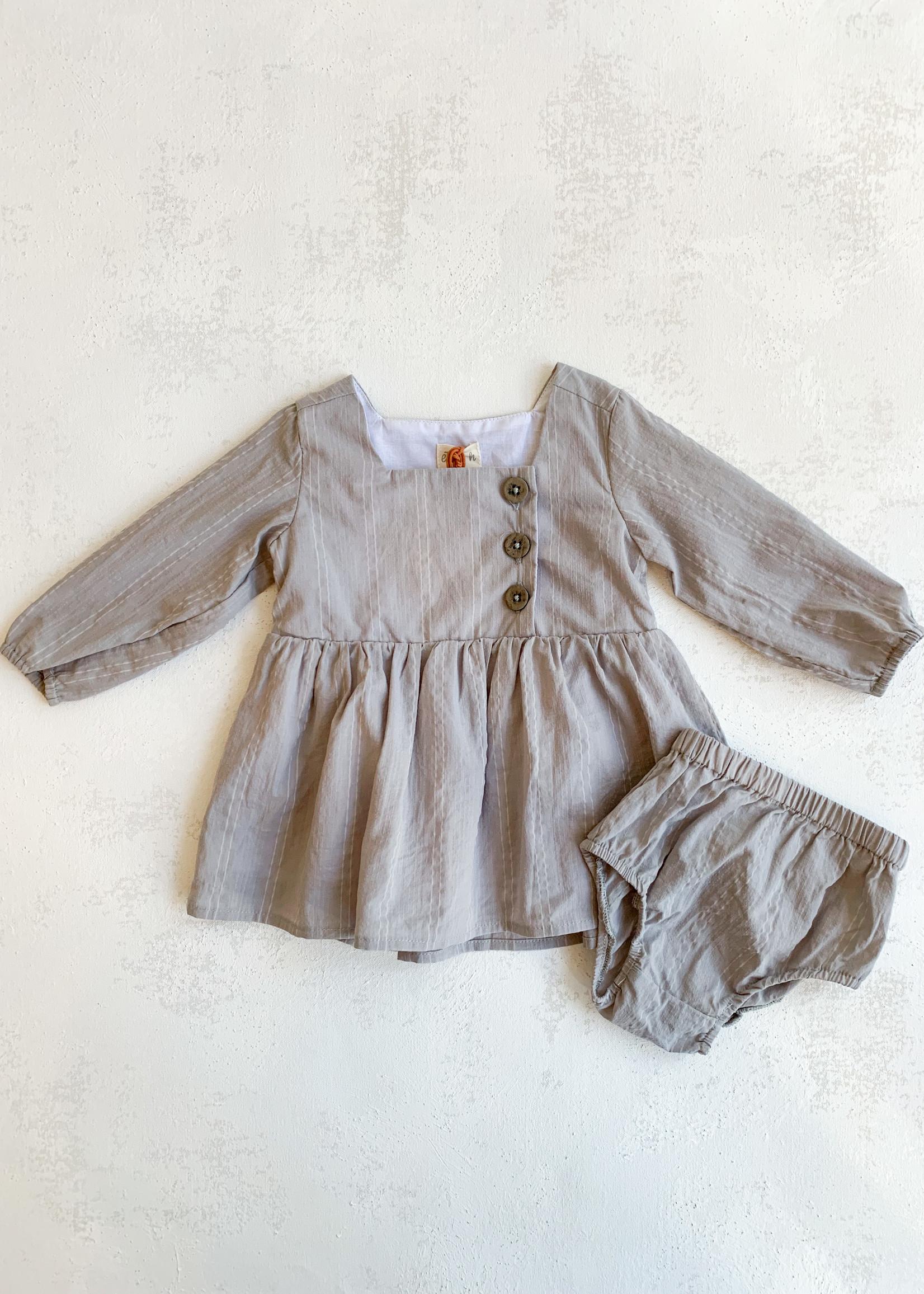Elitaire Petite Elowen Dress in Grey
